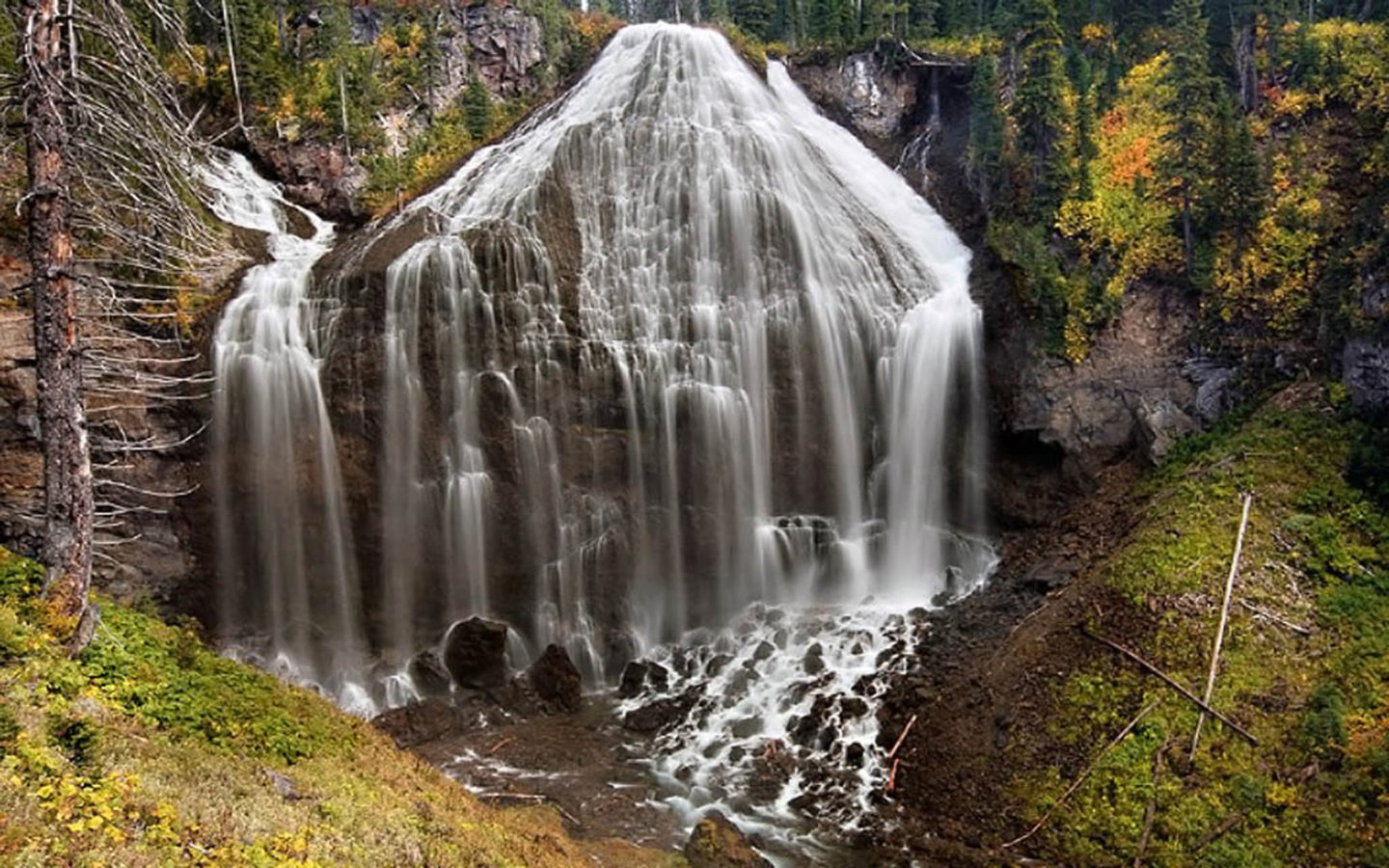 Sweet Wallpapers For Iphone Desktop Wallpaper Union Falls Yellowstone National Park