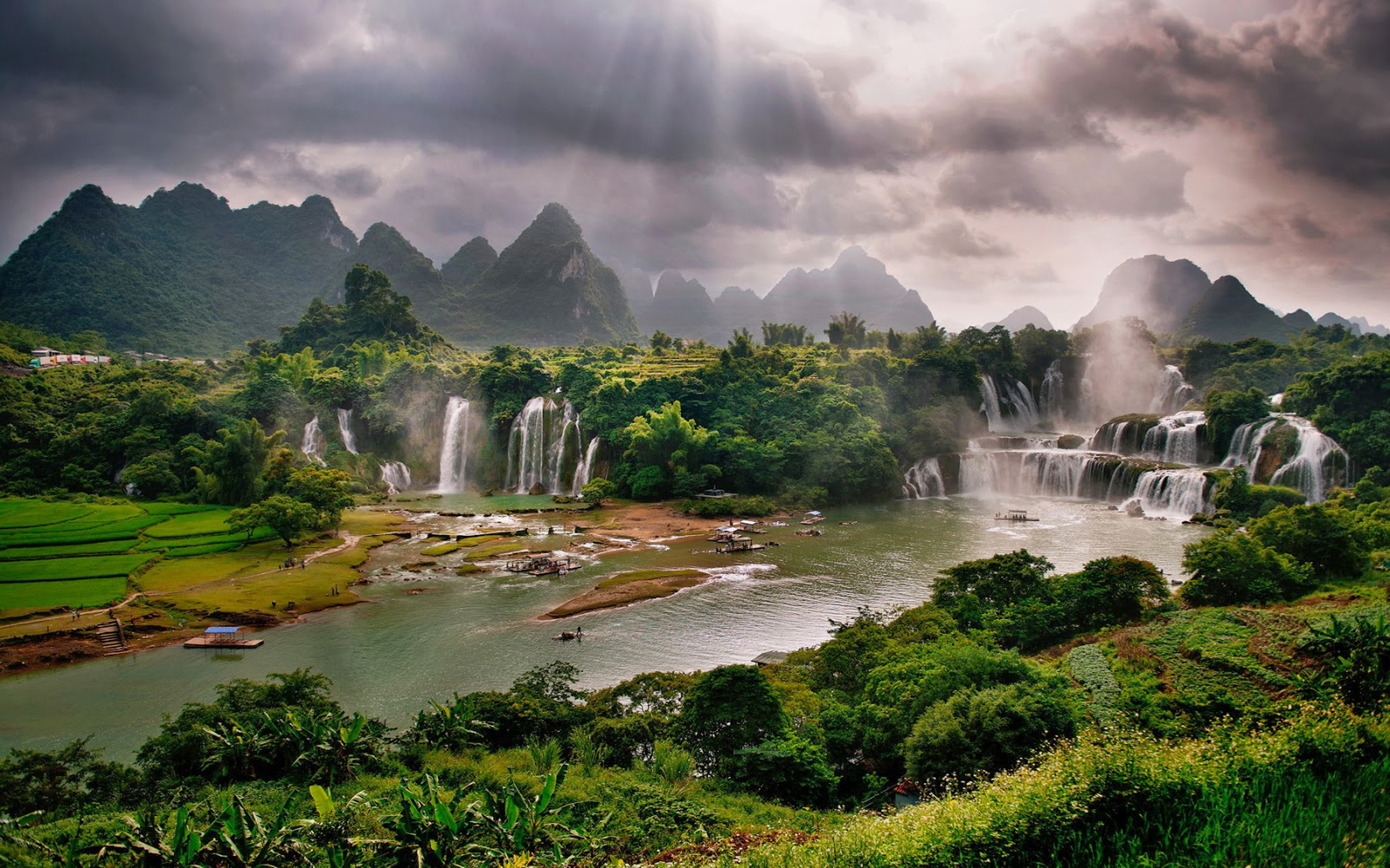 Water Fall Wallpaper Hd For Desktop Free Download Detian Waterfall Daxin County Guangxi China Desktop