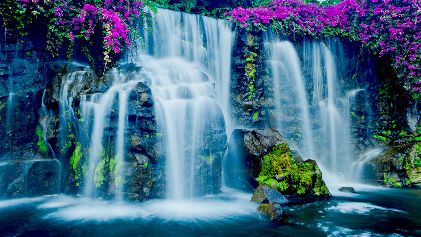Exotic Cars Wallpaper 1920x1080 Beautiful Blue Waterfall In Hawaii Wallpapers13 Com