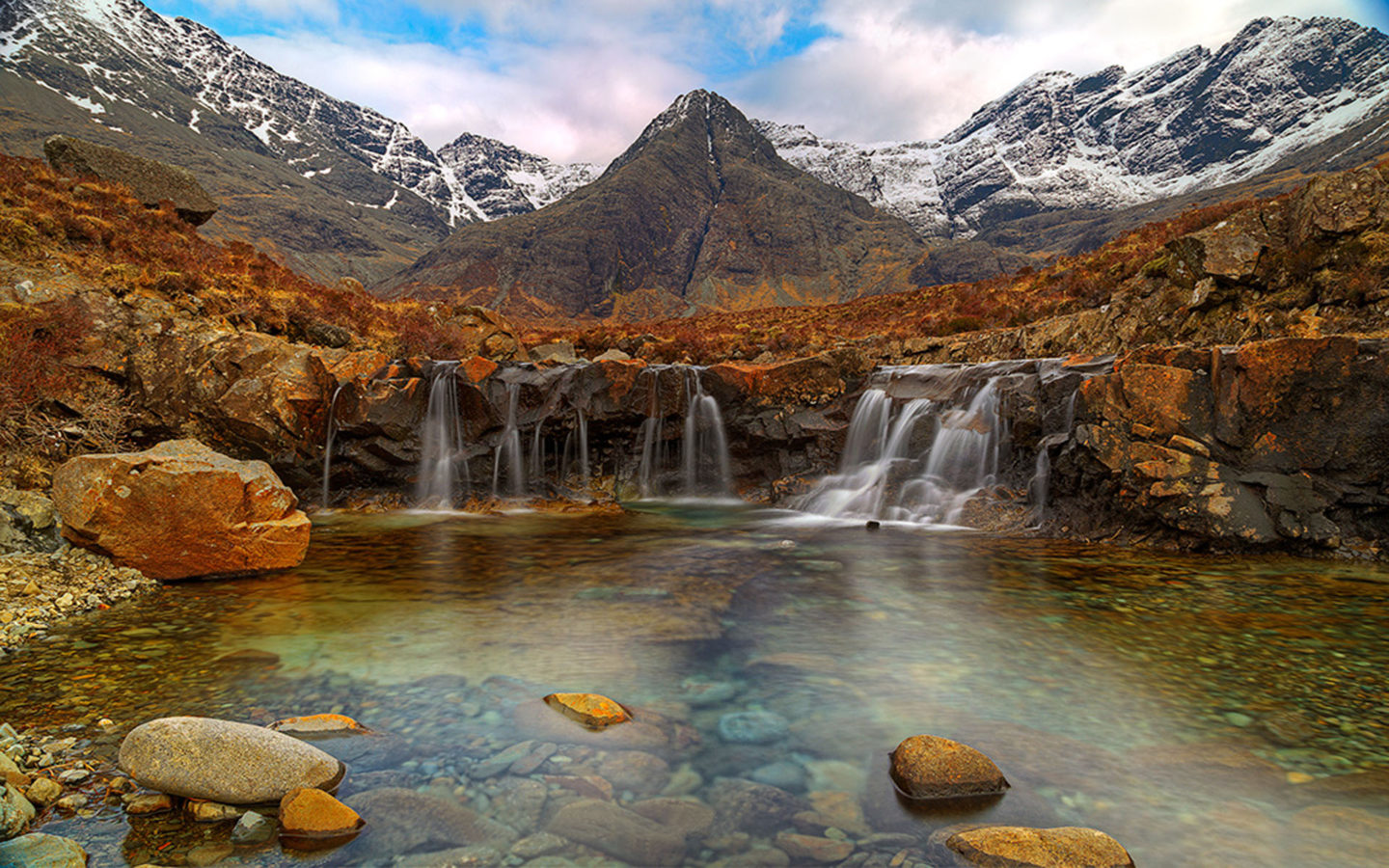 Fall Autumn Hd Wallpaper 1920x1080 Free Fairy Pools Isle Of Skye Scotland Desktop Wallpaper