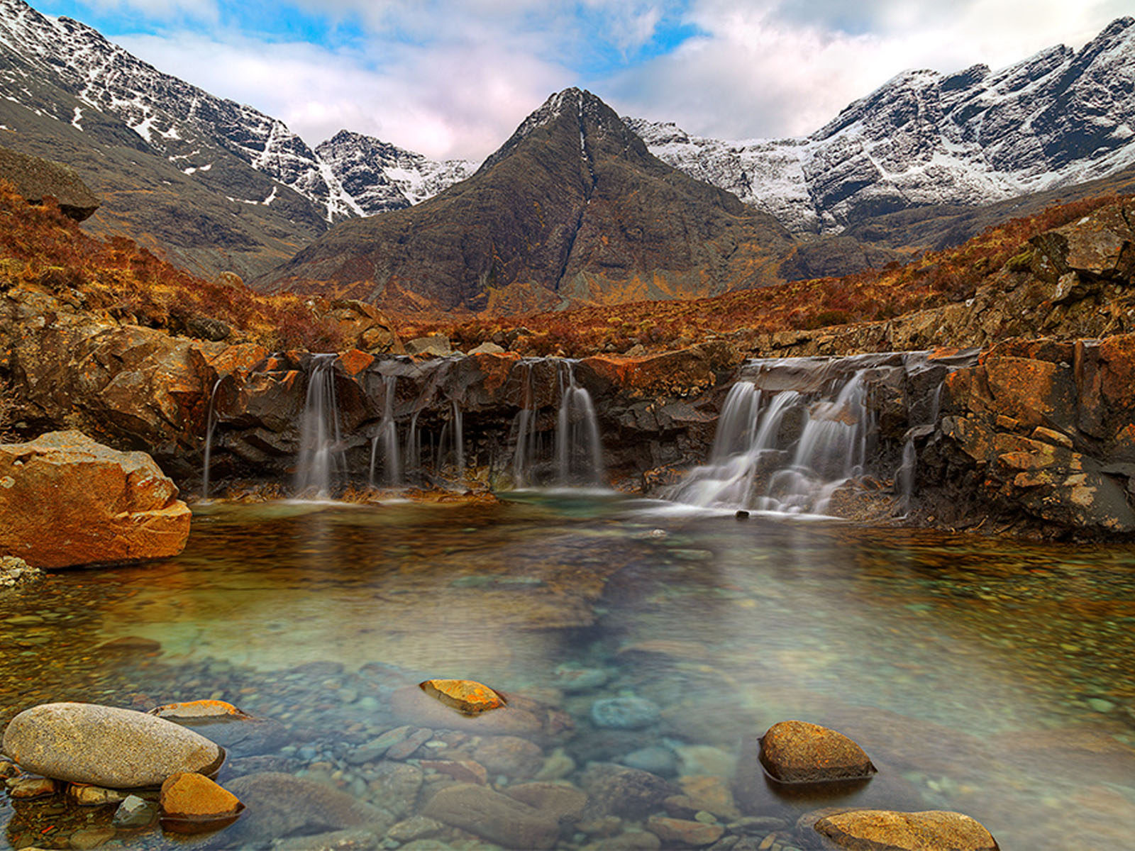 Waterfalls Desktop Wallpaper Forest Falls Fairy Pools Isle Of Skye Scotland Desktop Wallpaper