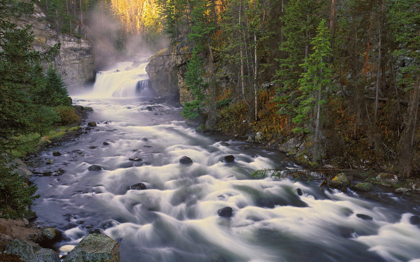 Niagara Falls Wallpaper For Ipad Firehole Falls Is A Waterfall On The Firehole River In