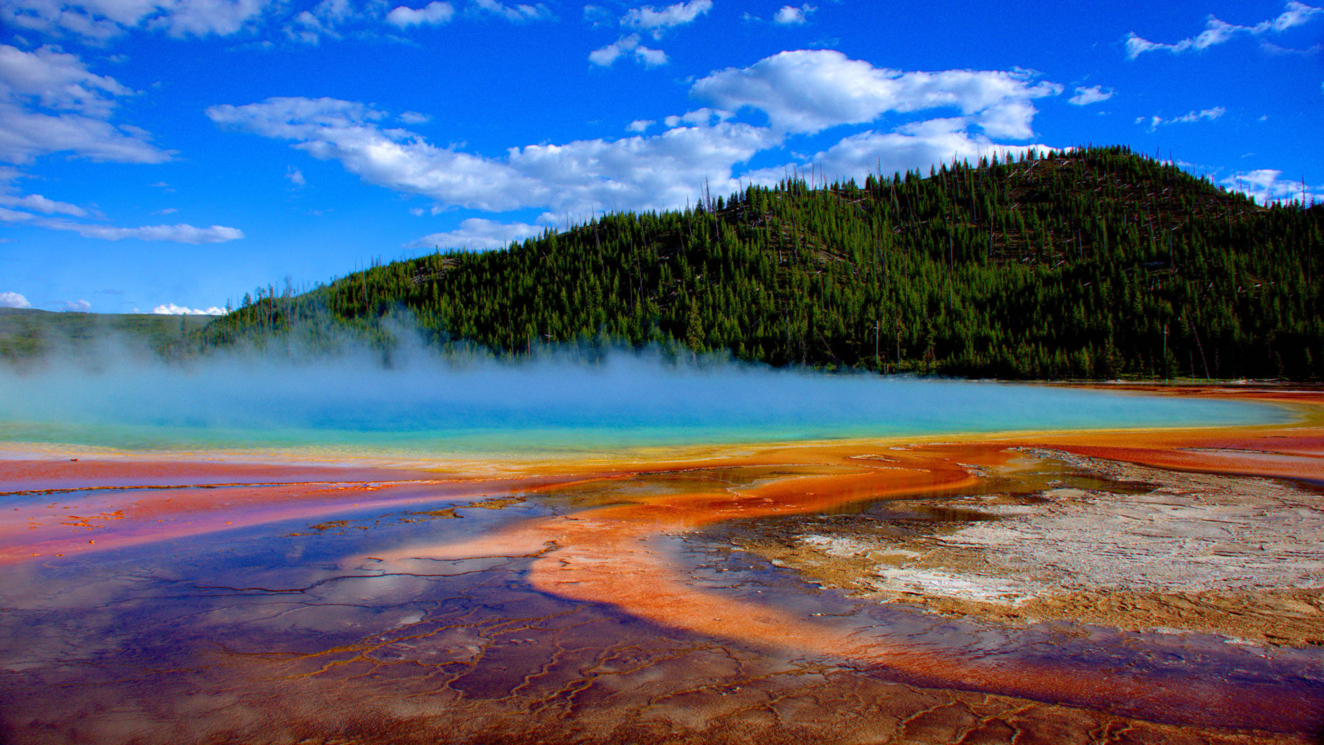 Colorado Fall Wallpaper Grand Prismatic Spring Yellowstone National Park Is The