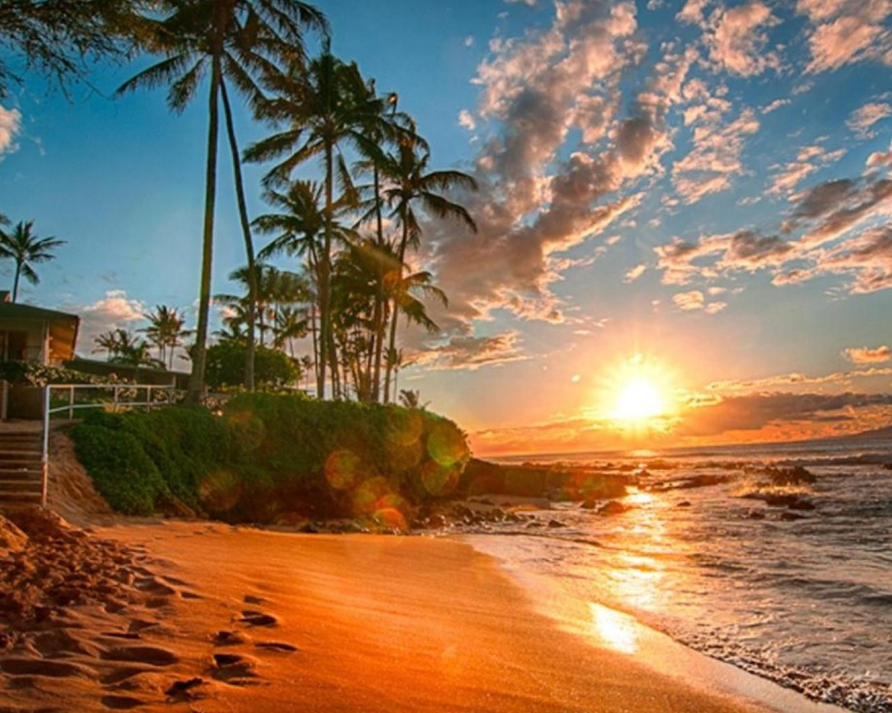 Rocky Wallpaper With Quotes Hawaii Exotic Wallpaper Hd Sea Sand Beach Palms Green Sky