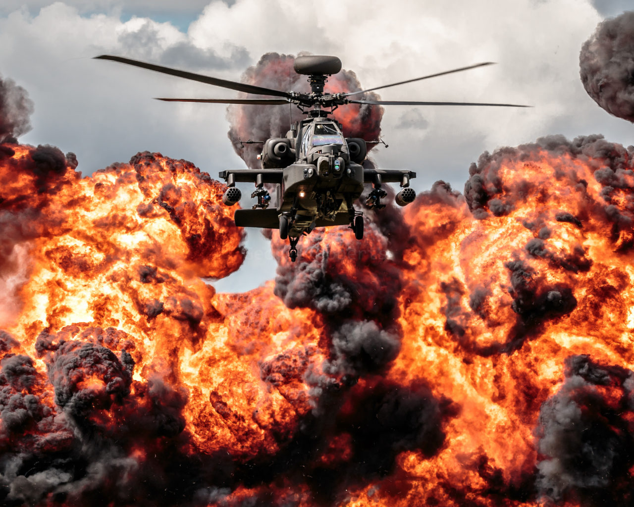 Fire And Water Hd Wallpapers Helicopter Apache Explosion Fire Hd Desktop Wallpaper