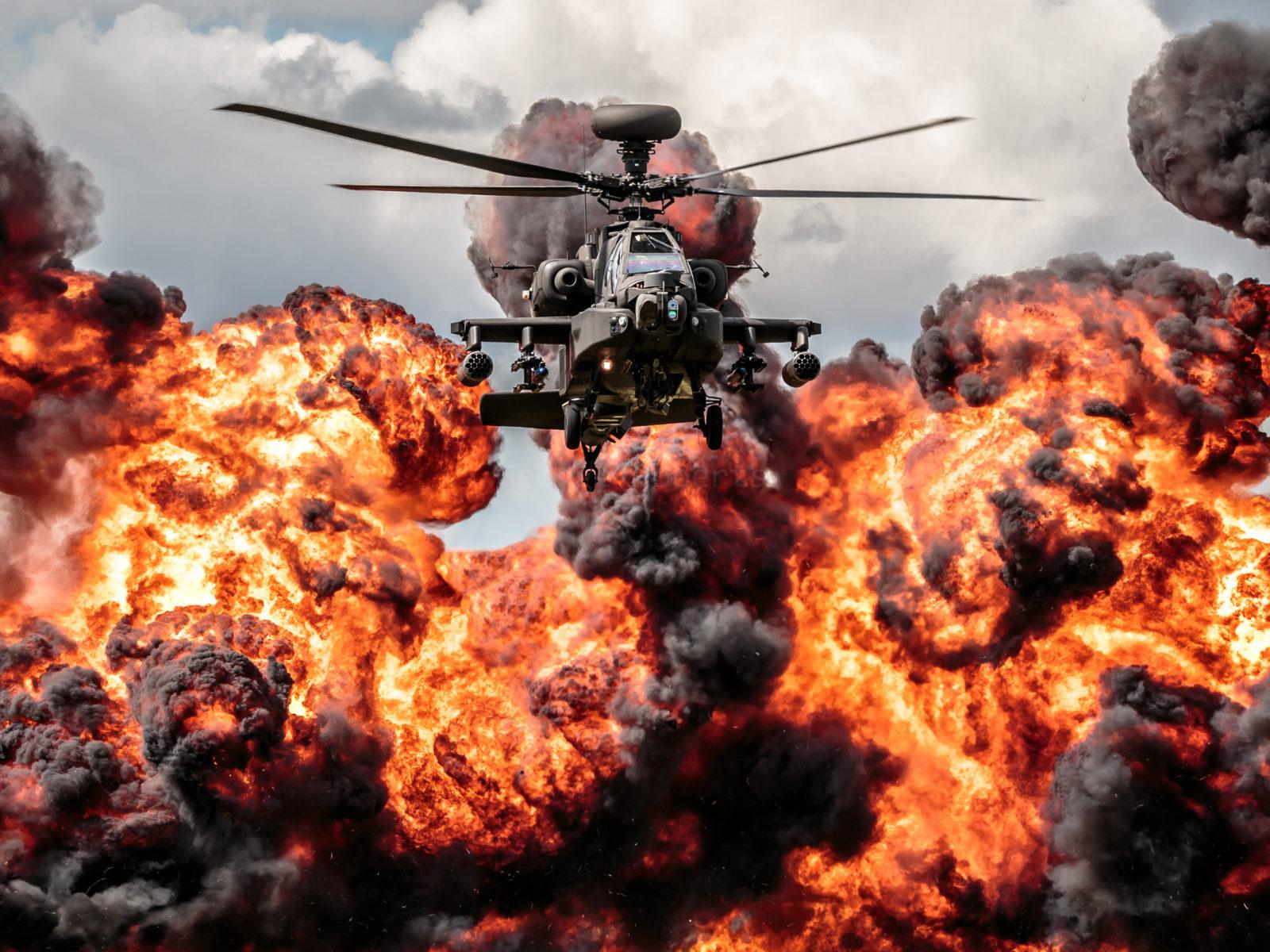 Hd Wallpapers Fire Cars Helicopter Apache Explosion Fire Hd Desktop Wallpaper