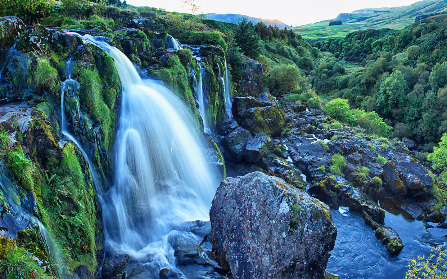 Fall Autumn Hd Wallpaper 1920x1080 Free Loup Of Fintry Is A Waterfall On The River Endrick East Of