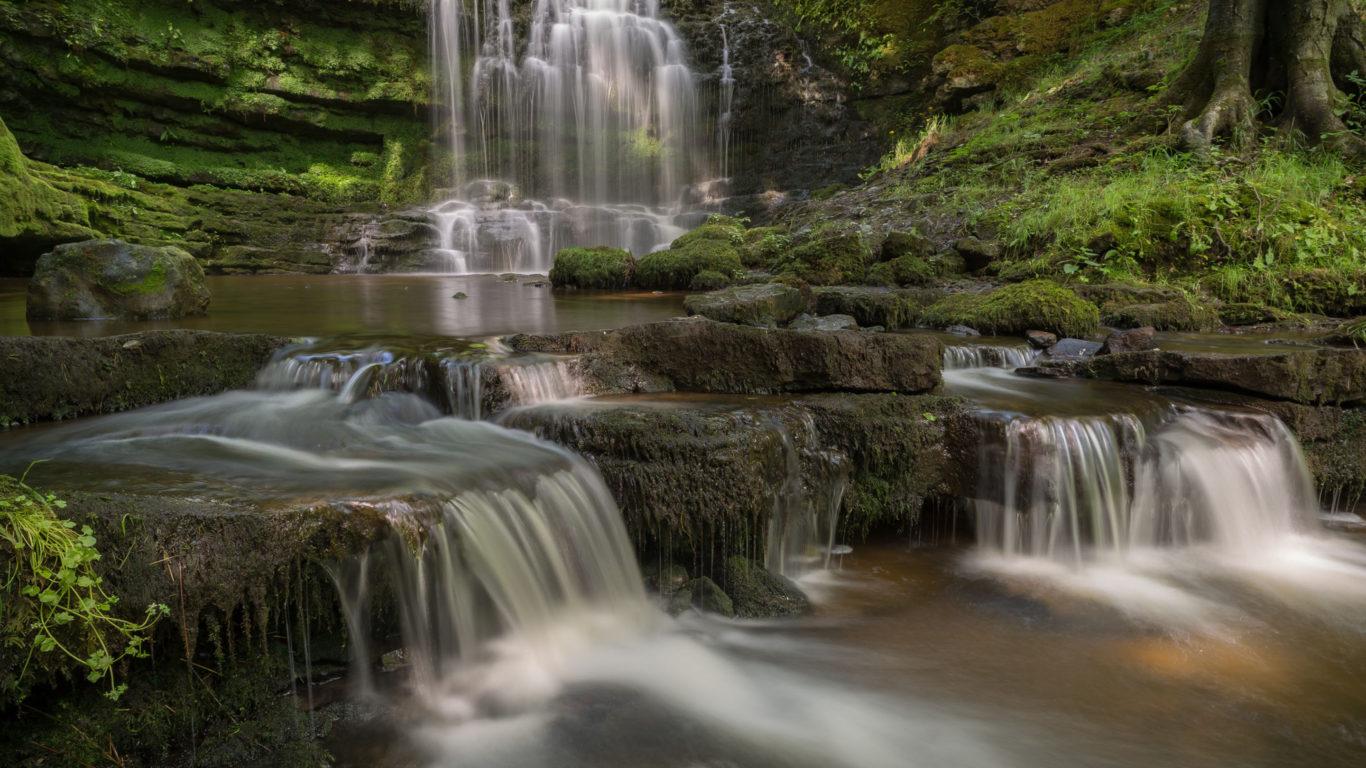 Falls Wallpaper Waterfall Scaleber Force Waterfall Yorkshire Dales National Park
