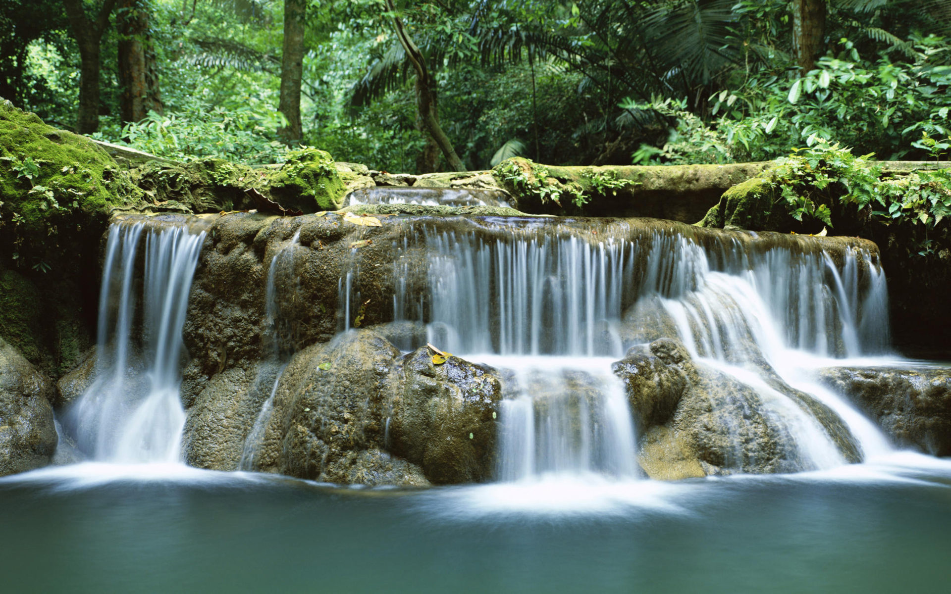 Free Android Fall Wallpaper Tropical Waterfall Thailand Desktop Hd Wallpapers