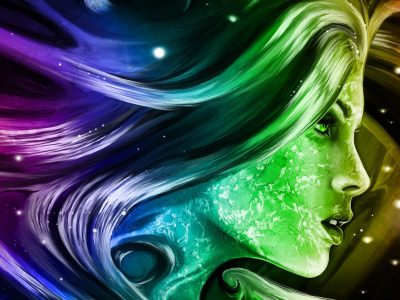 Rainbow Girl 3d Fantasy Abstract Art Digital Hd Wallpapers For Mobile Phones And Laptops ...