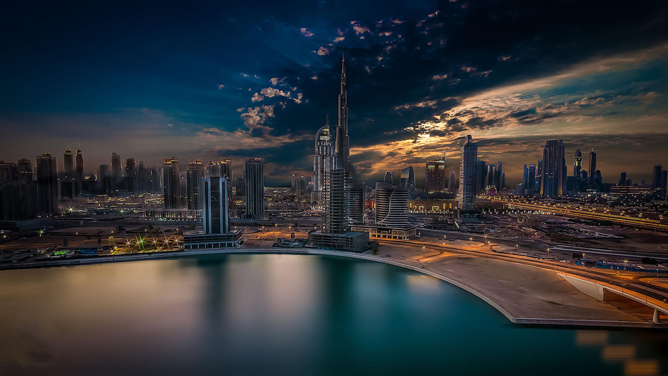 Free 3d Dinosaur Wallpaper City Dubai Arabic Dream Burj Khalifa United Arab Emirates