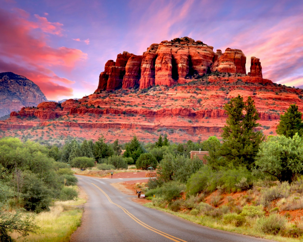 Fall Lock Screen Wallpaper Fly Drive Scenario Of Sedona Arizona United States