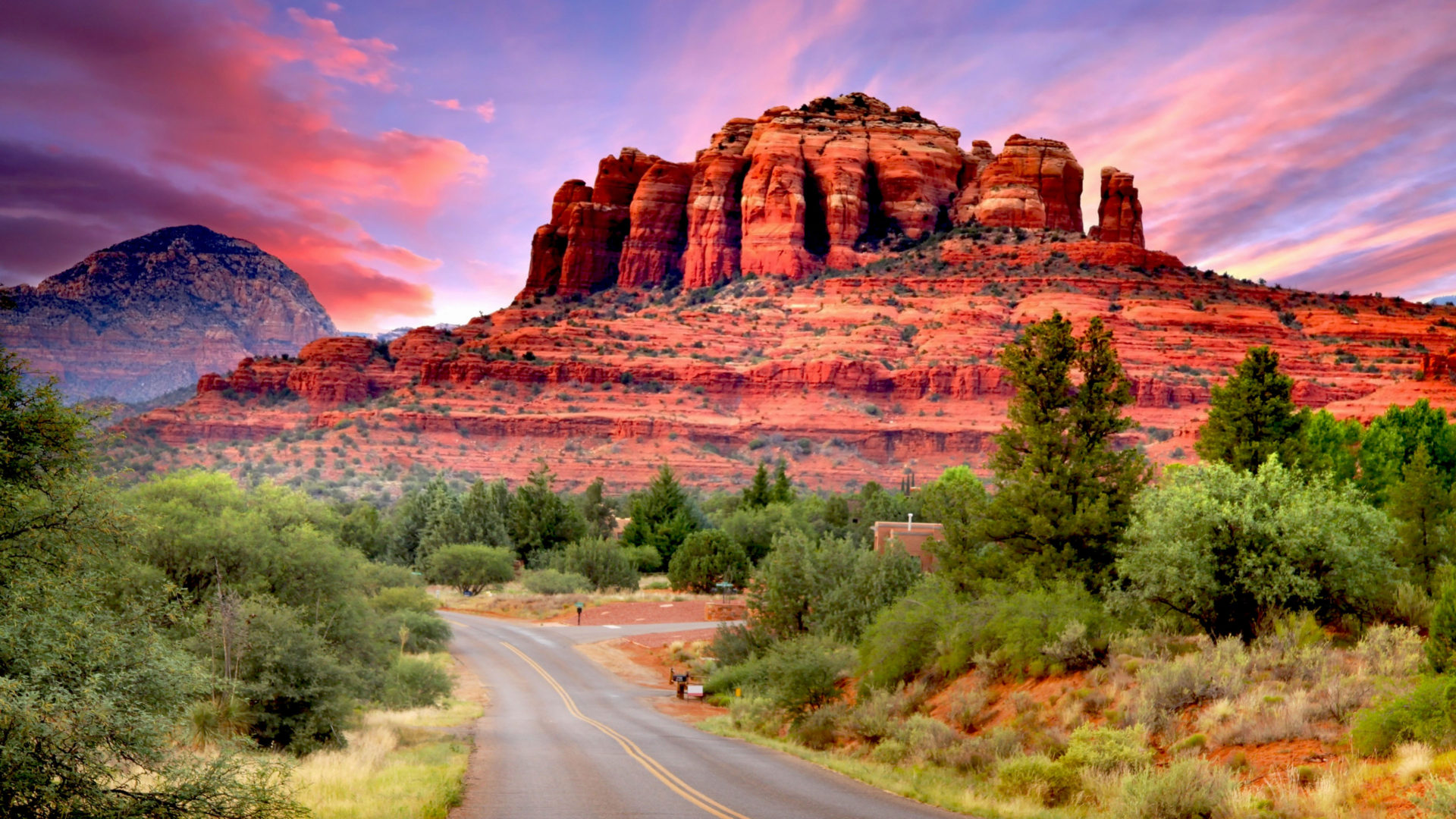 Fall Computer Wallpaper Fly Drive Scenario Of Sedona Arizona United States
