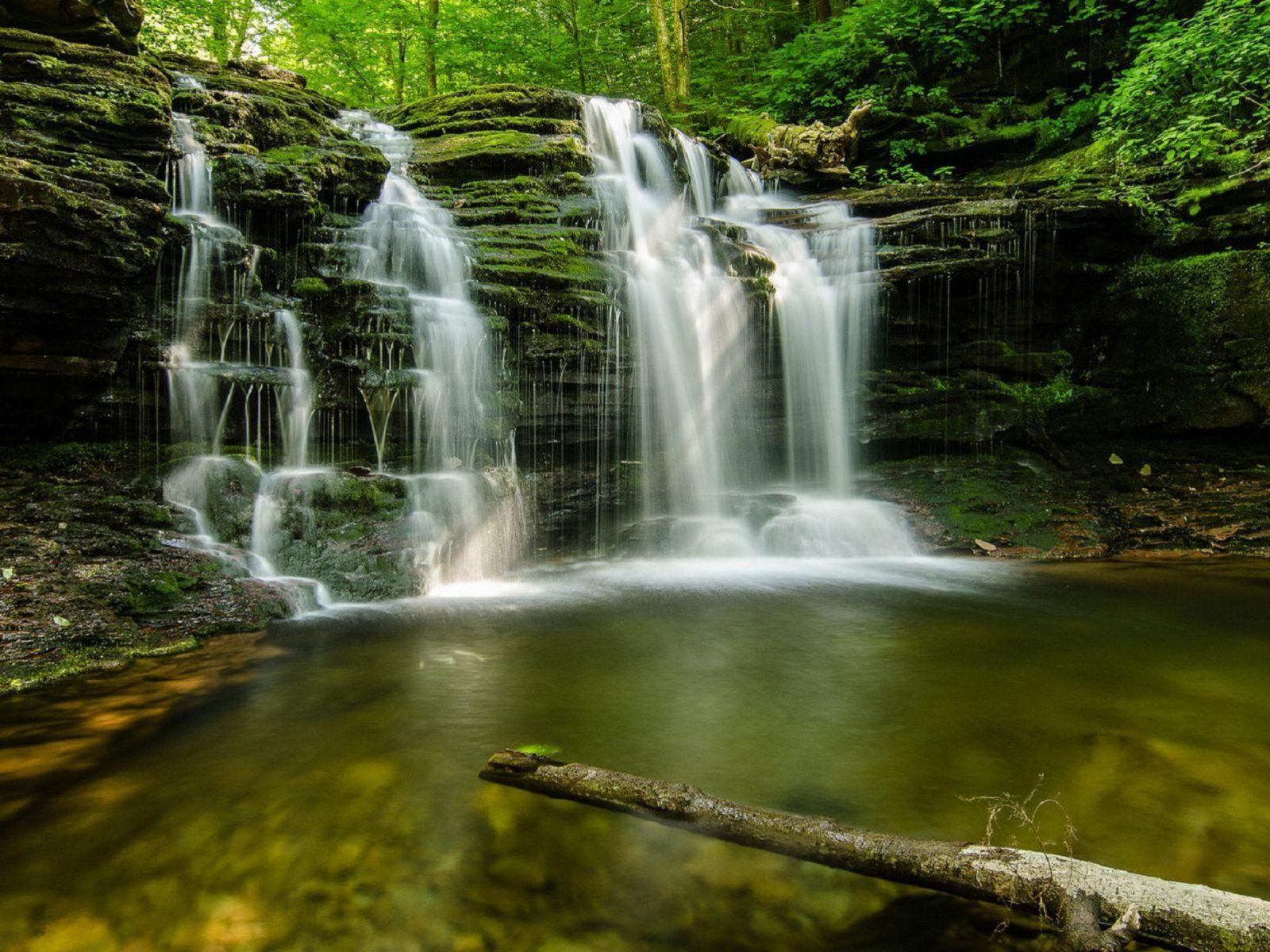 Desktop Wallpaper Images High Resolution Fall Cascading Forest Waterfall Multnomah Falls Oregon Usa