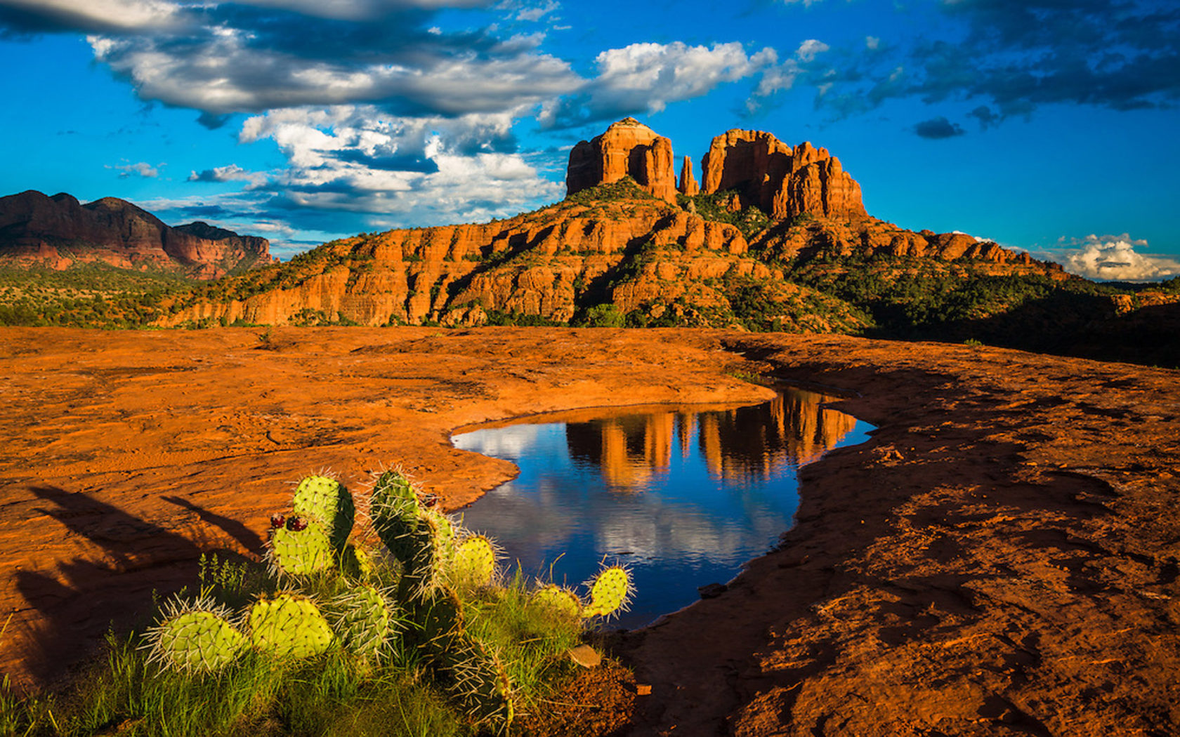 Fall Scenery Wallpaper Landscape Nature Cathedral Rock In Sedona Arizona United