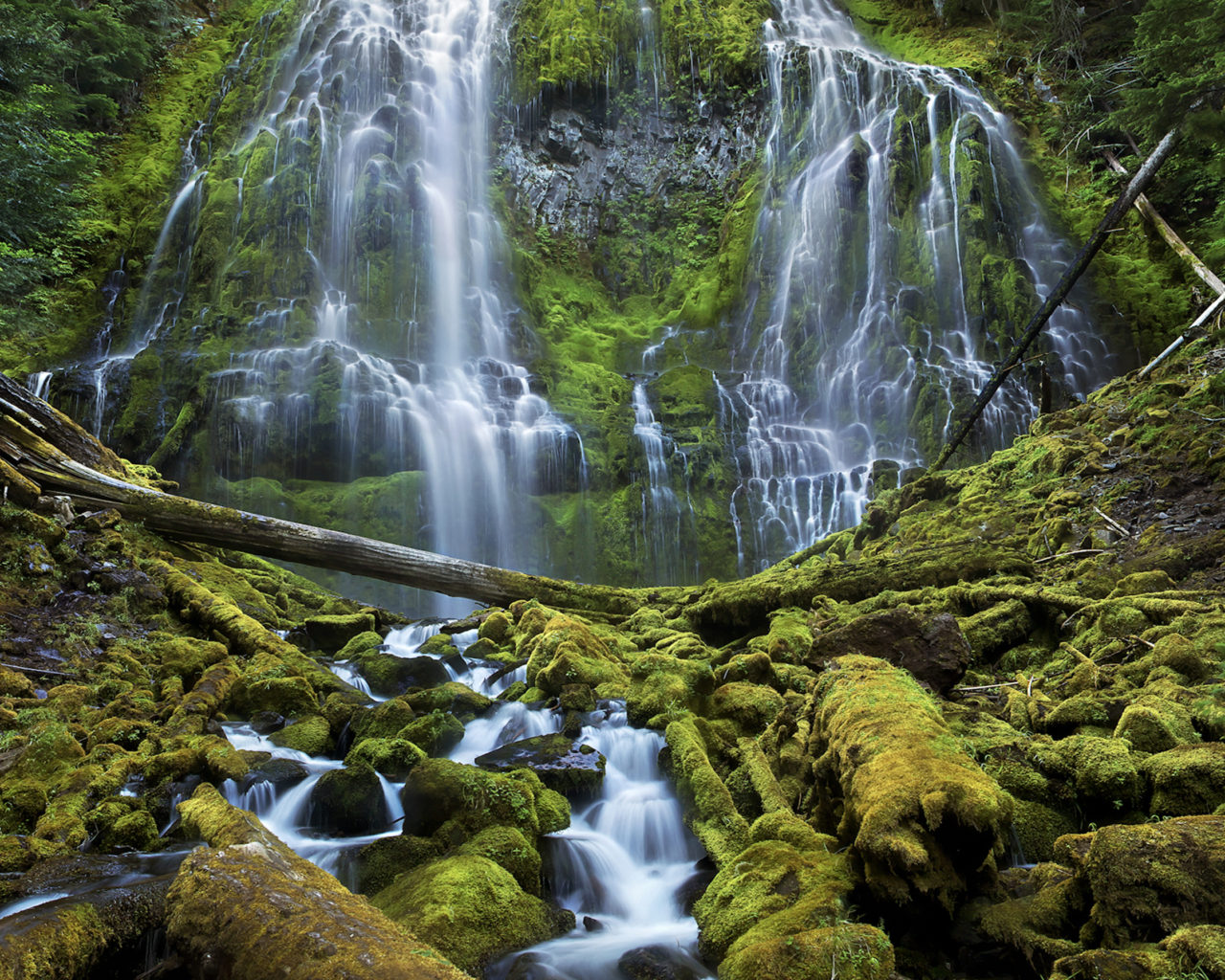 Angel Falls Wallpapers Desktop Proxy Falls Willamette National Forest Three Sisters