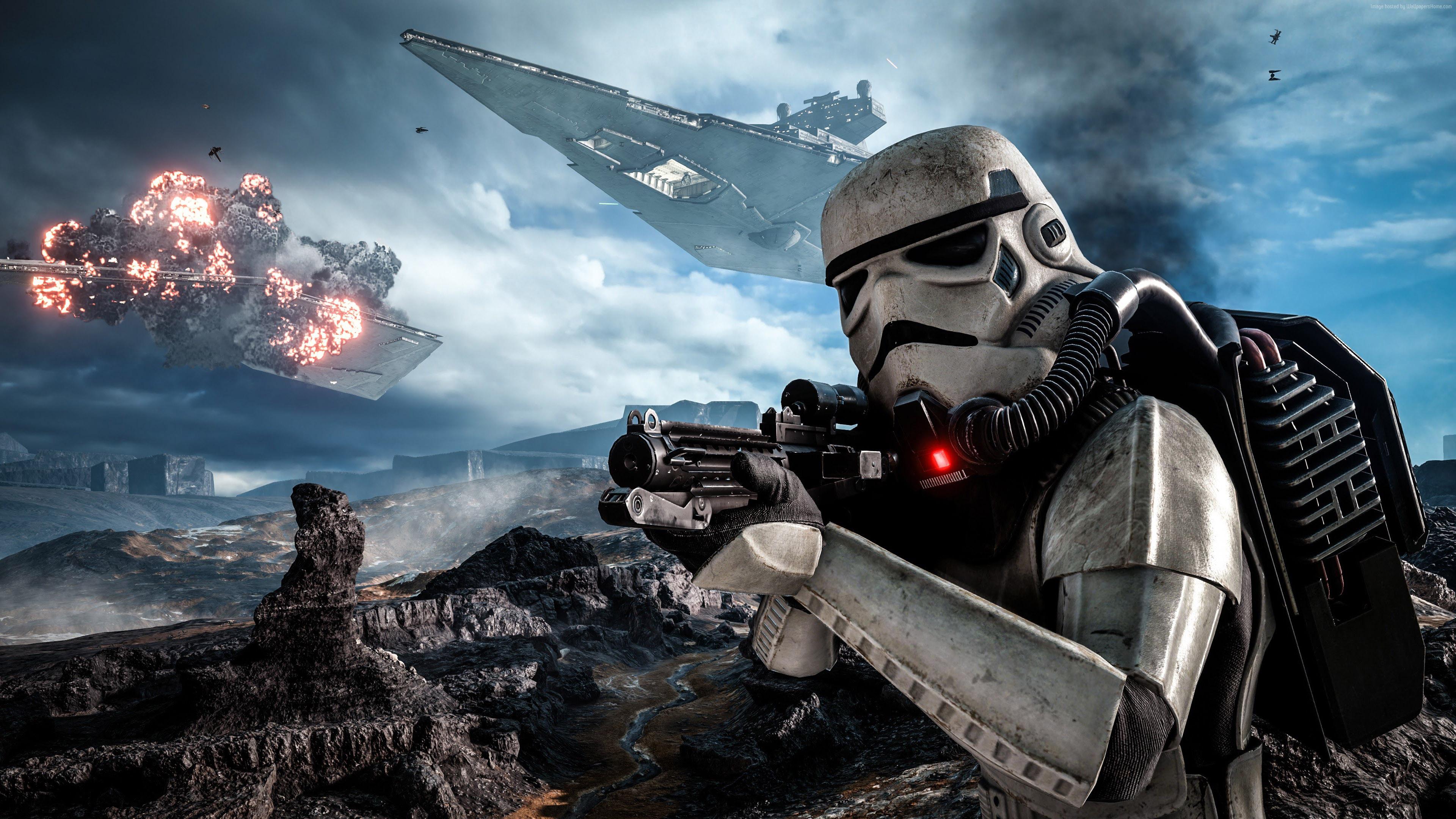 Darth Vader Iphone Wallpaper Hd Star Wars Gameplay Battle Of Hoth Battlefront Stormtrooper