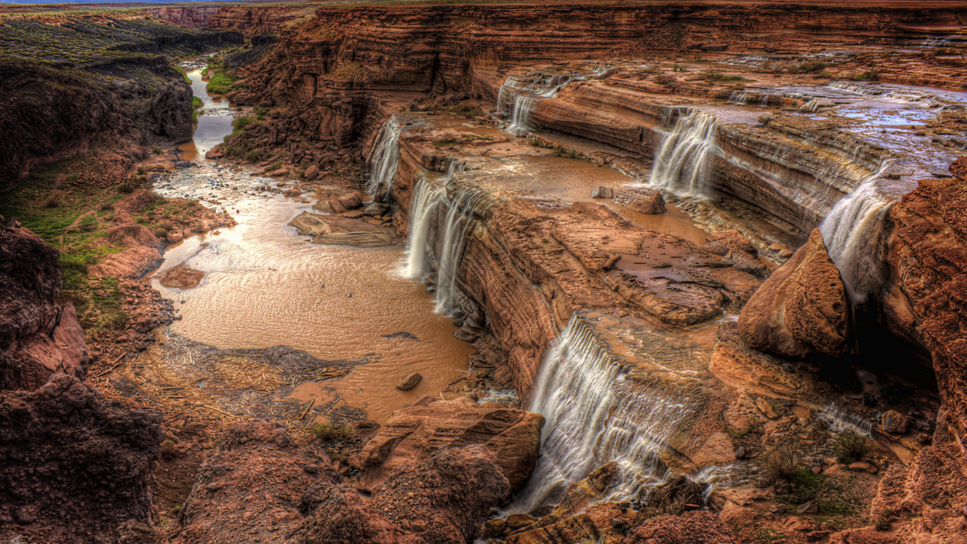 Amazing Wallpapers For Desktop Hd Free Download Cascade Falls Grand Falls Of The River Little Colorado