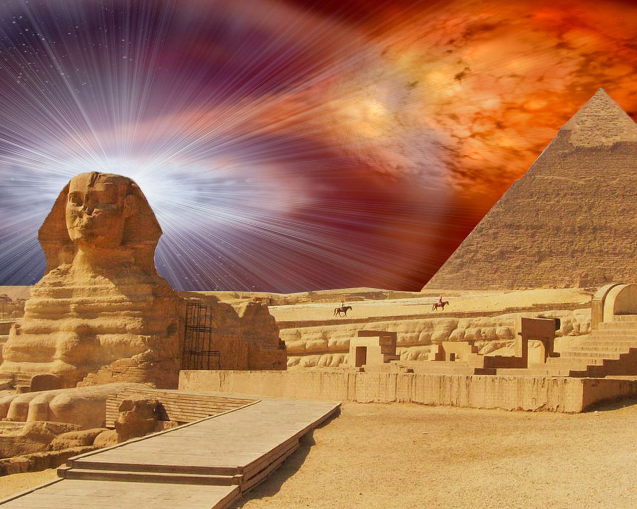 Fall Trees Wallpaper Iphone Egypt Pyramid The Great Sphinx Of Giza With The Pyramid Of