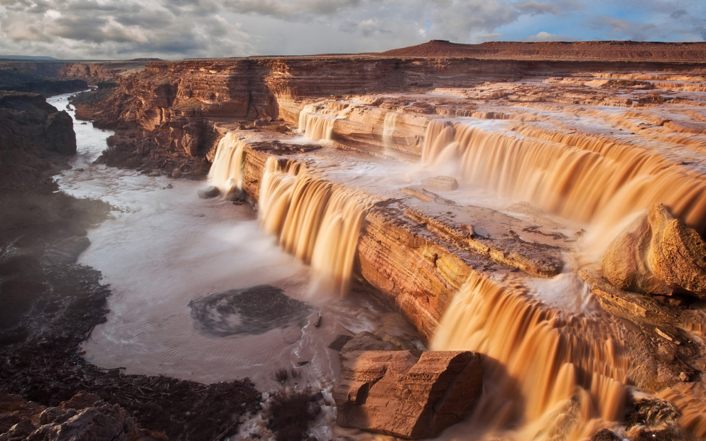 National Geographic Wallpaper Fall Grand Falls In Coconino Of The Little Colorado River