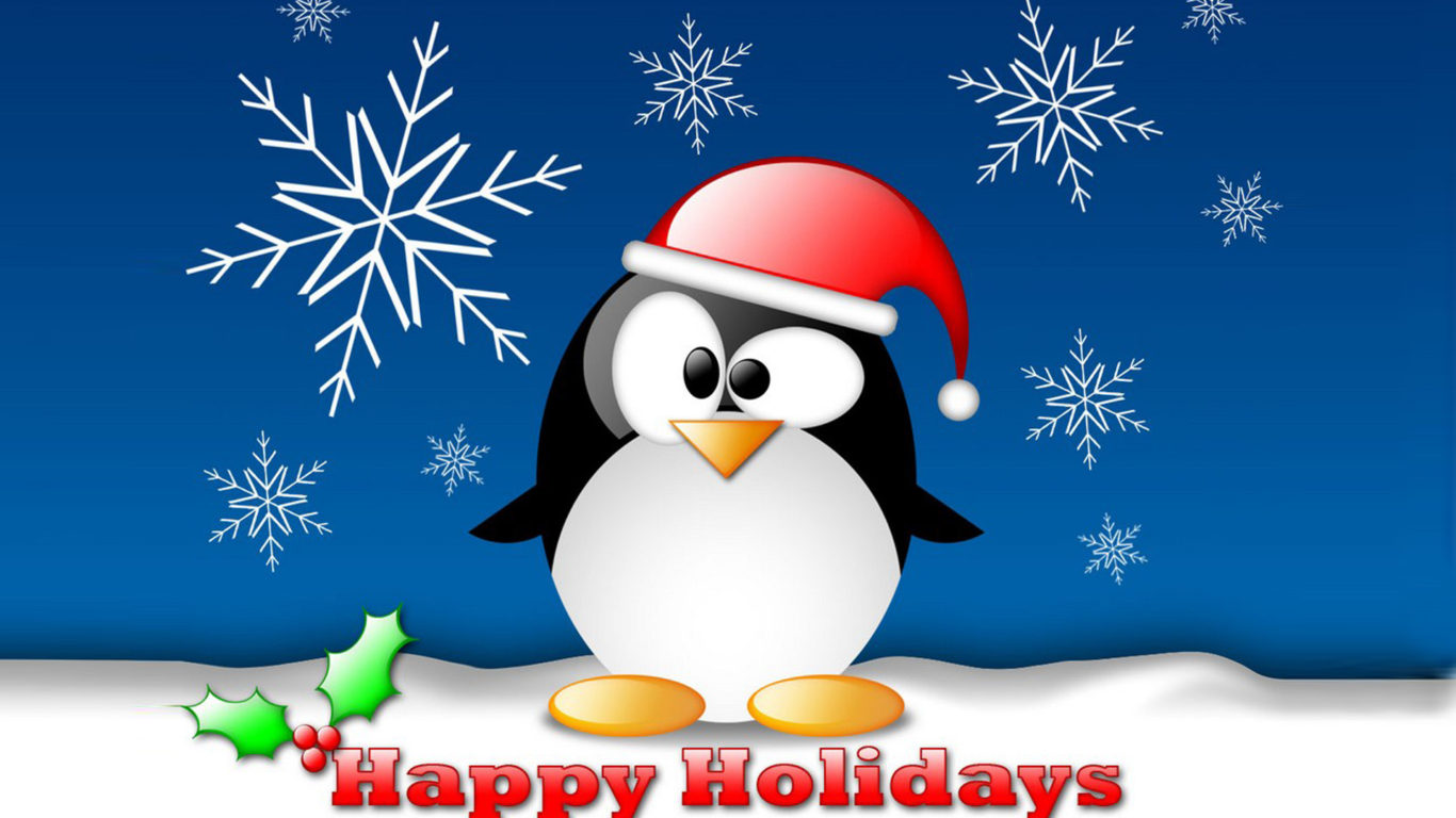 God Ganesh Hd Wallpaper Happy Holidays Christmas Card With Penguin Wallpapers Hd