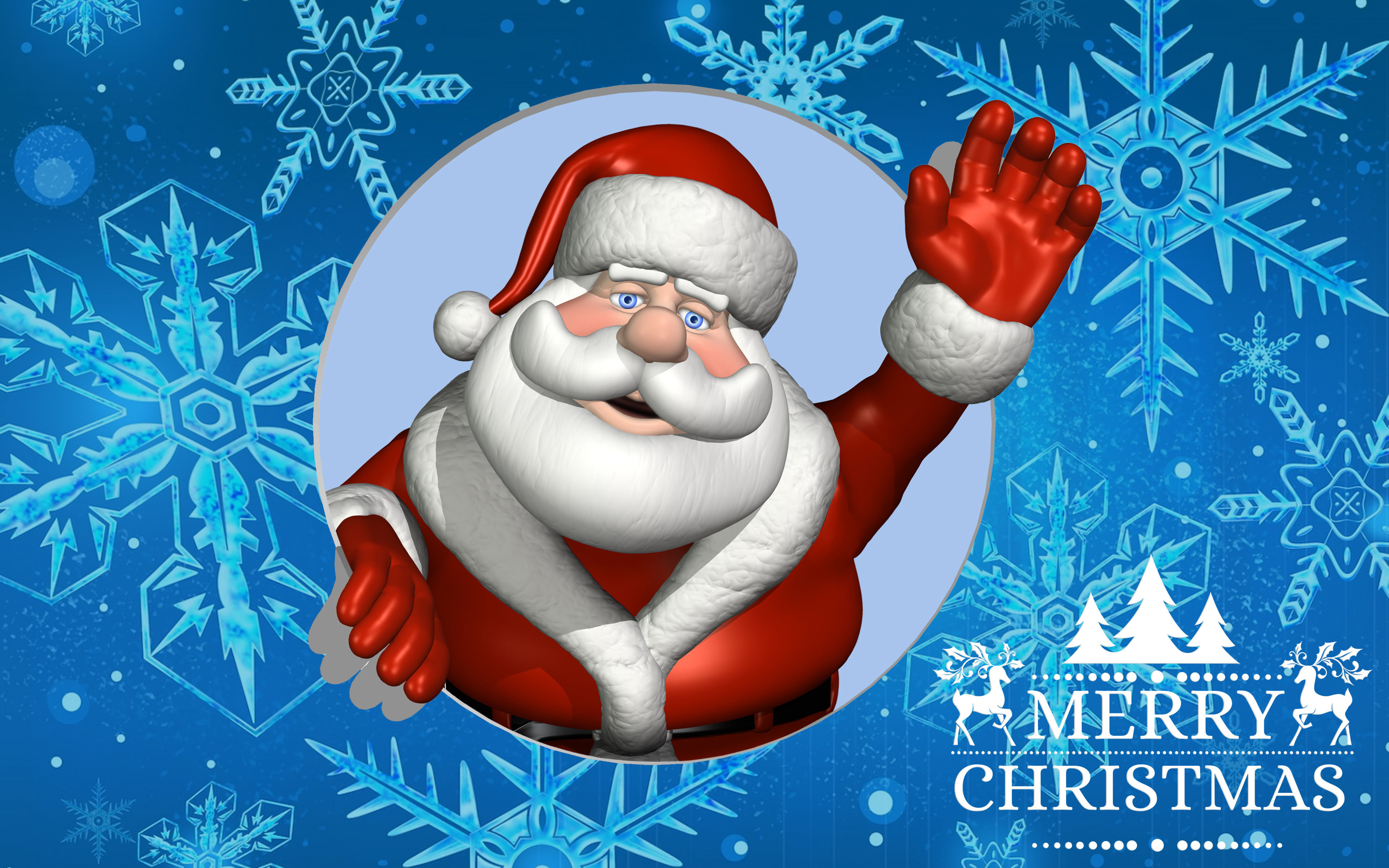 Happy New Year D Video Merry Christmas Greeting Card With Santa Claus Desktop