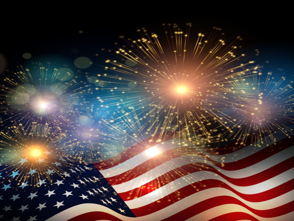Summer Desktop Wallpaper Hd American Flag Fireworks Independence Day Celebrations 4