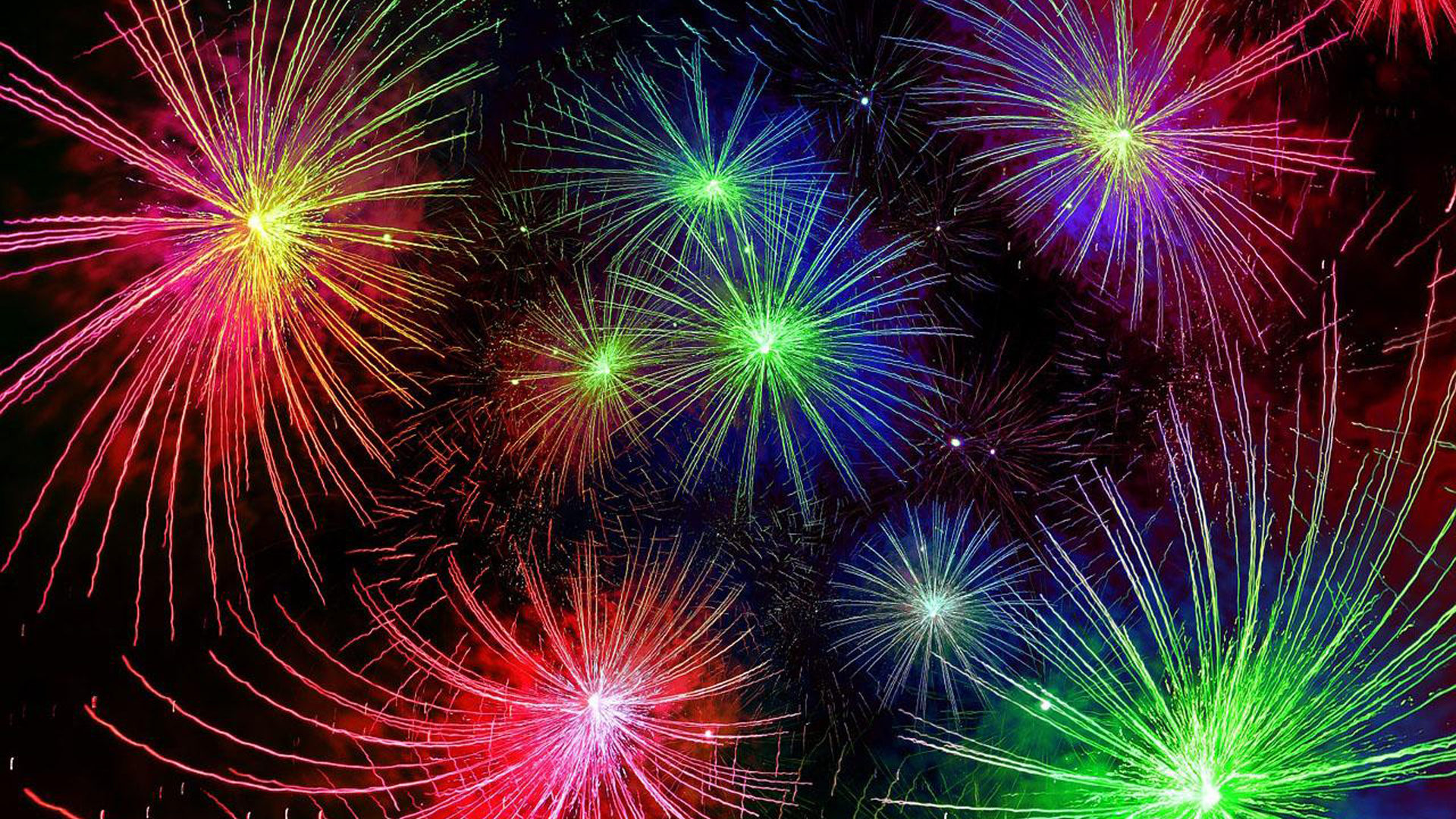 Animated Wallpaper For Tablet Happy New Year Live New Years Fireworks Red Blue Yellow