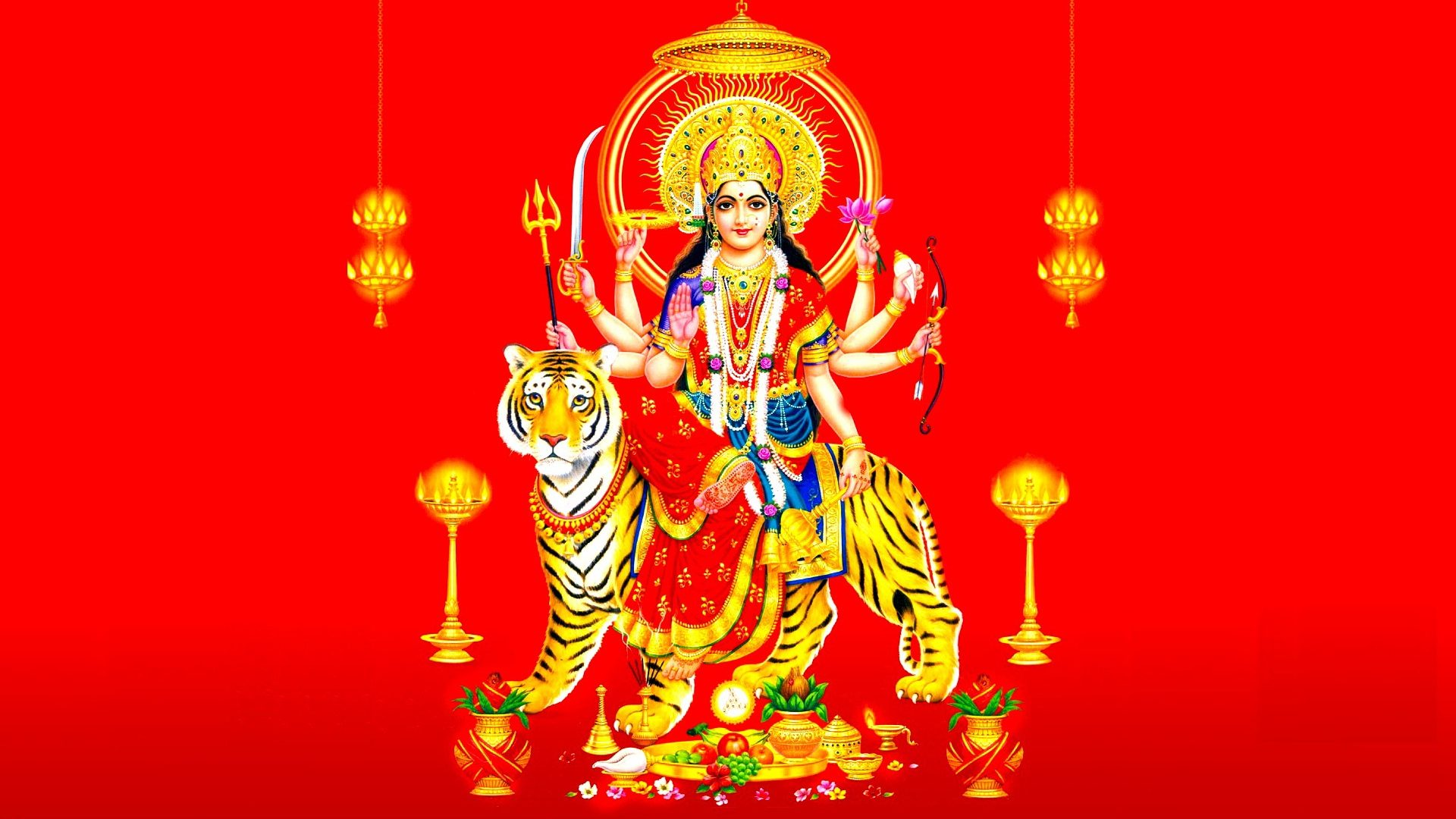 3d Wallpaper Jai Mata Di Hondu Goddess Durga Mata Hindu Religious Hd Wallpapers