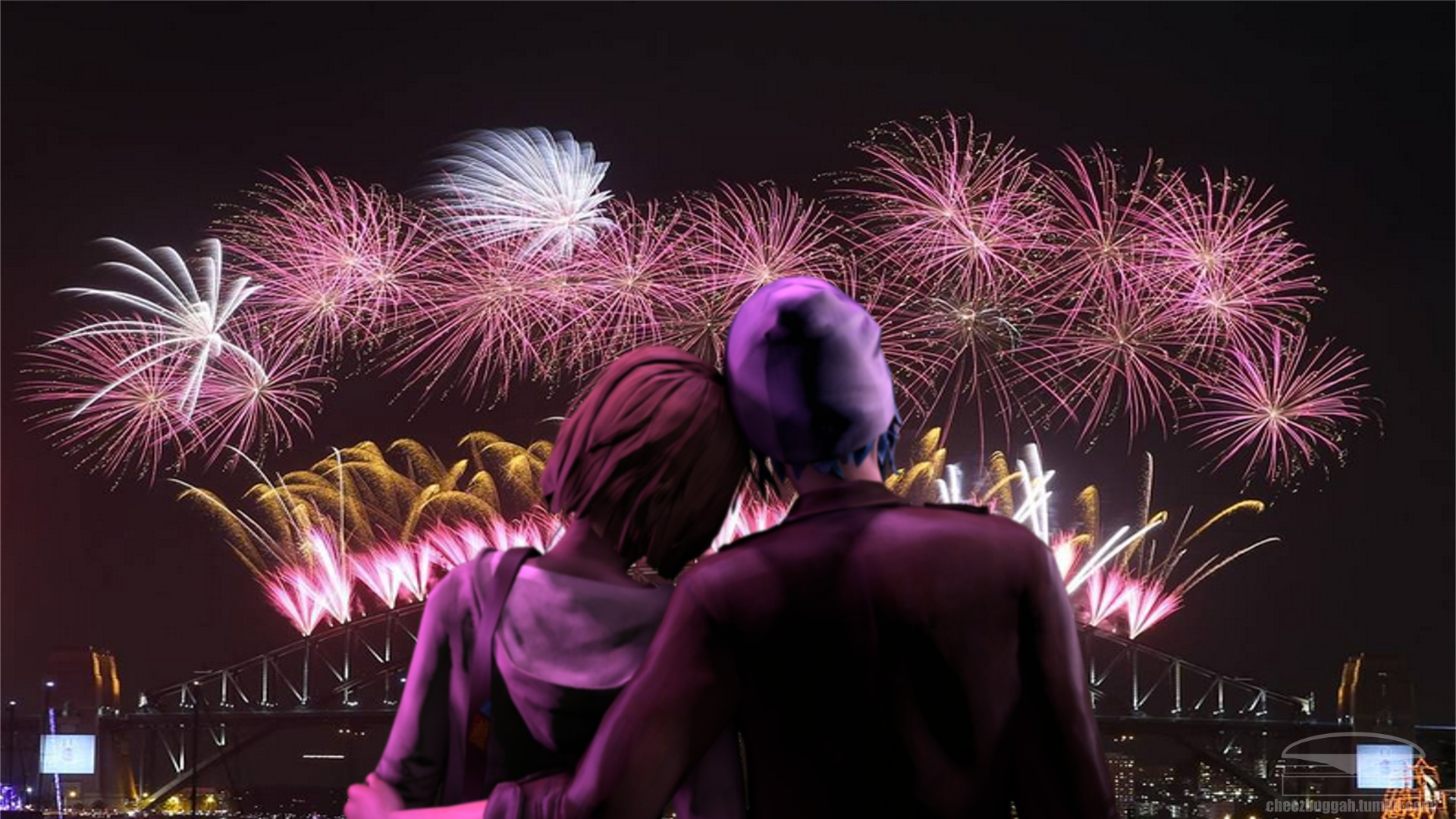 3d Couple Kissing Wallpapers New Years Eve Loving Couple Romantic Night With The