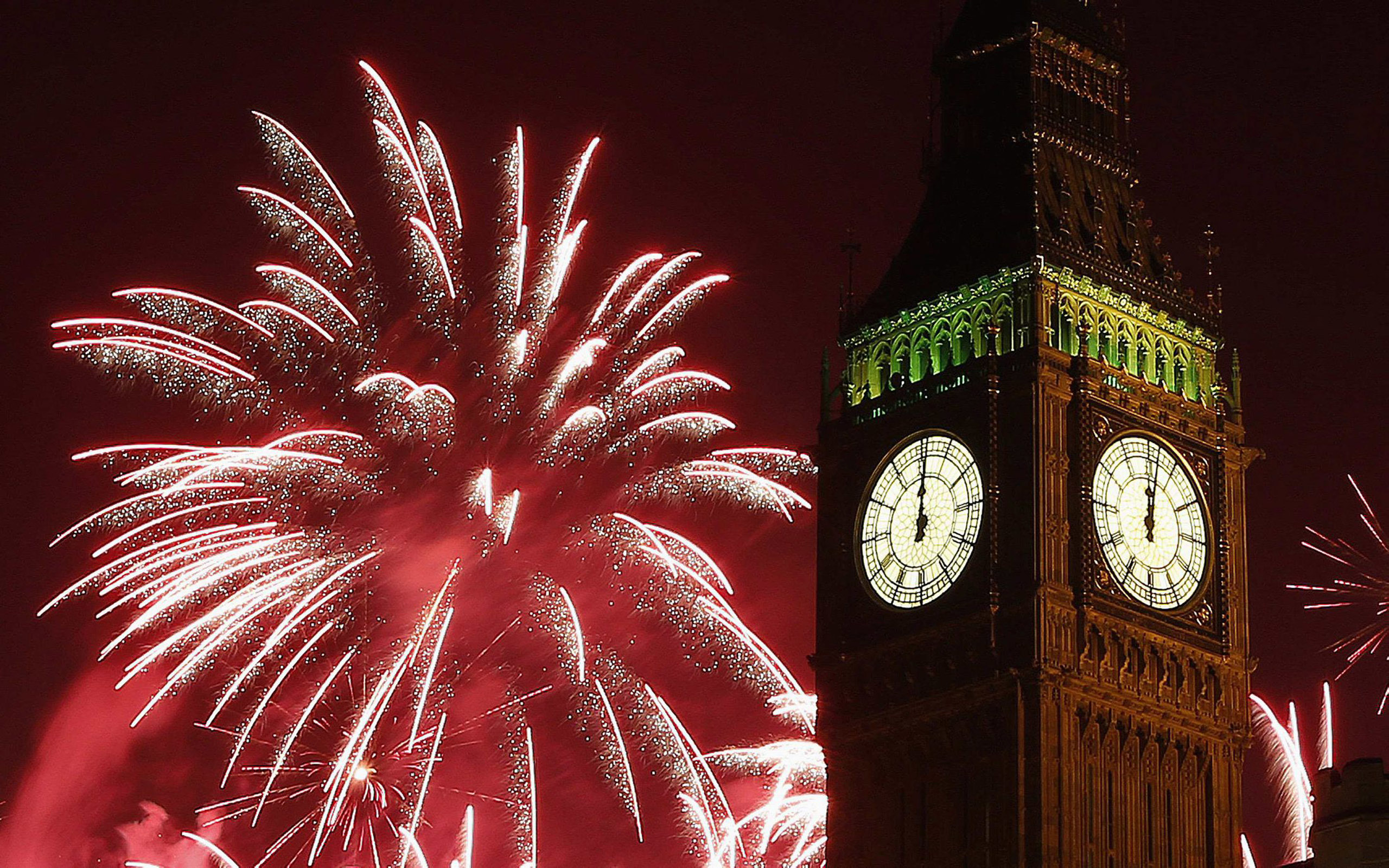 How To Use Gif As Wallpaper Iphone X New Year S Fireworks Celebration Of Midnight Big Ben Clock