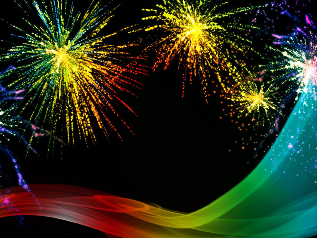Iphone X Live Wallpaper For Android Rainbow Fireworks Celebration Colorful Abstract Image With