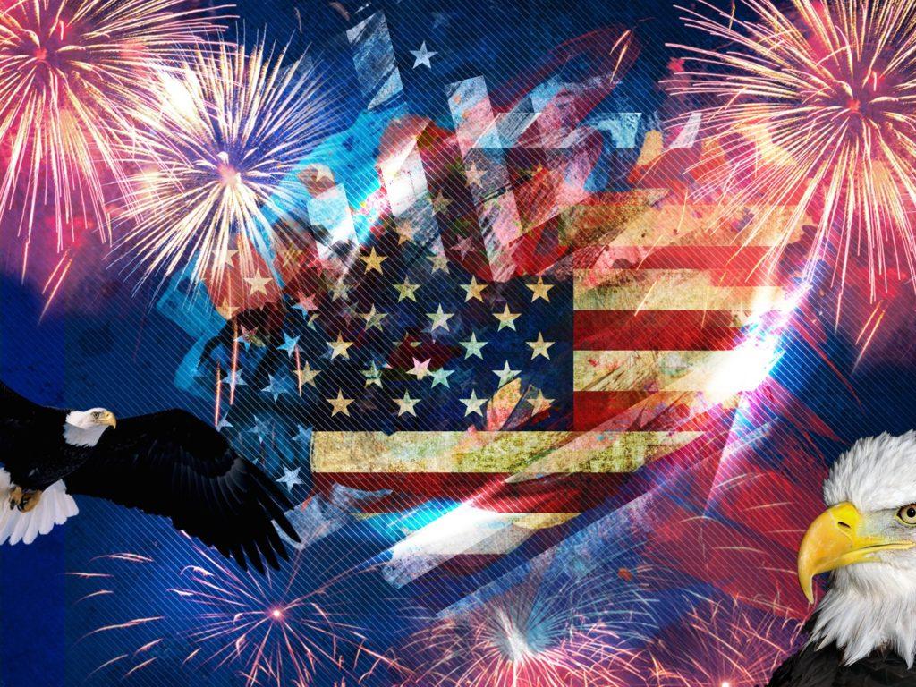 Free 3d Dinosaur Wallpaper Symbols Of America American Flag Bald Eagle July 4