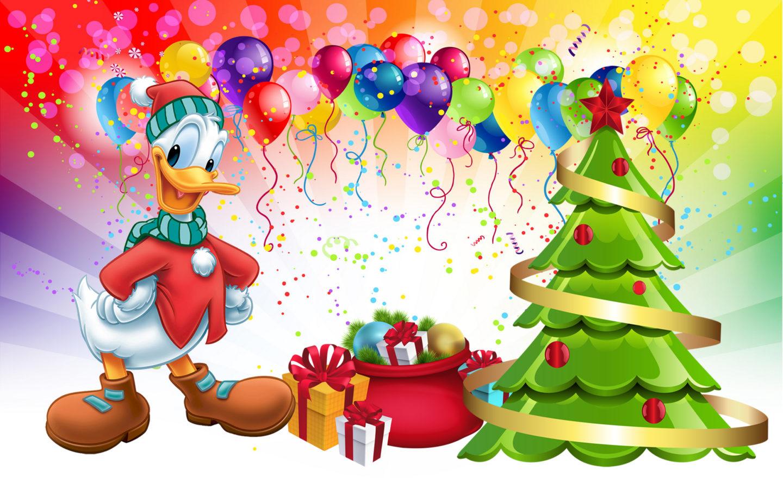 Cute Bunny Wallpaper Cartoon Donald Duck Christmas Tree Gifts Desktop Hd Wallpaper For
