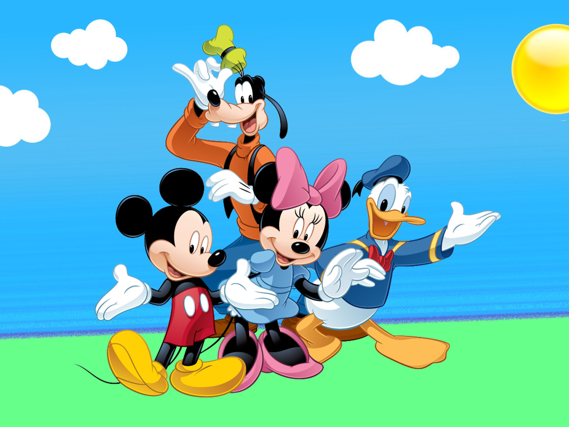 Disney Cars Wallpapers Free Donald Duck Mickey Mouse And Goofy Cartoon Wallpaper Hd