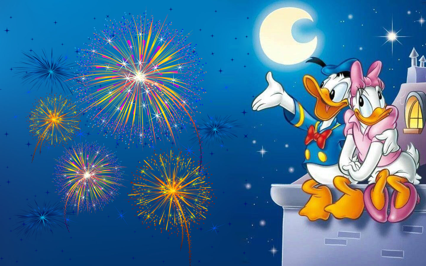 Mickey Mouse Wallpaper Iphone 4 Donald Duck And Daisy Duck Romantic Evening Watching The