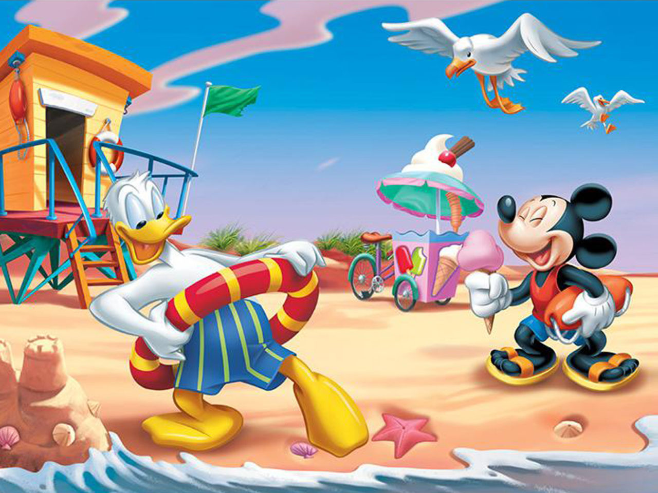 Chip And Dale Wallpaper Hd Donald Duck And Mickey Mouse Summer Vacation Beach Hd