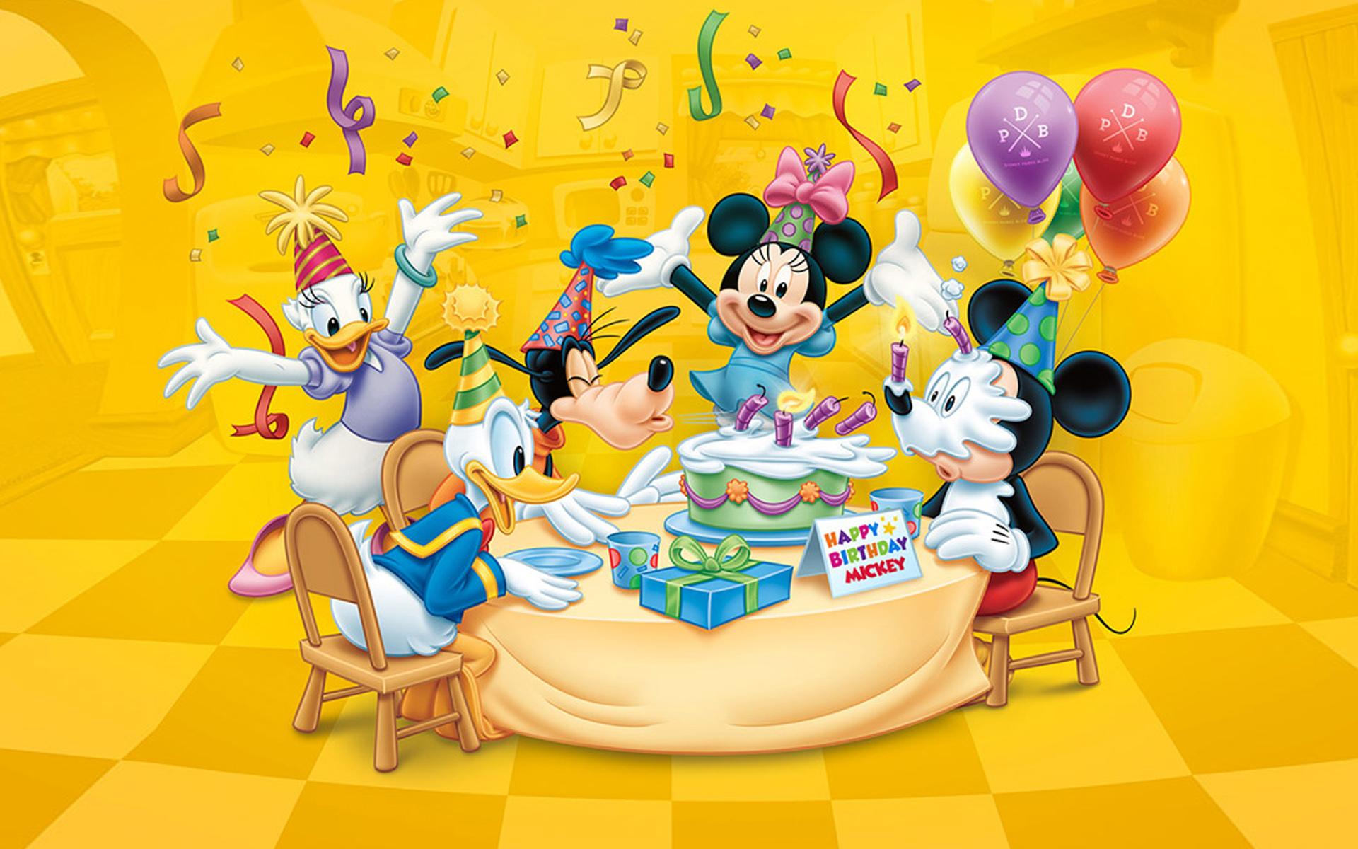 Wallpaper Hd Mickey Mouse Happy Birthday Mickey Celebration Birthday Cake Balloon