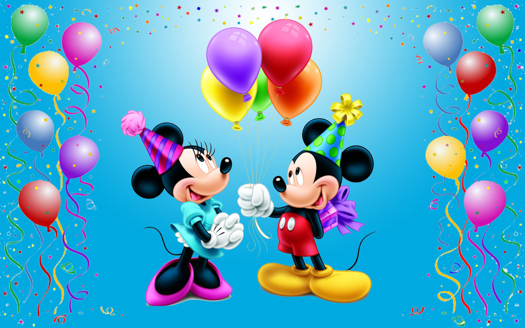 Disney Quotes Iphone 5 Wallpaper Mickey Mouse Happy Birthday Minnie Celebration Balloons
