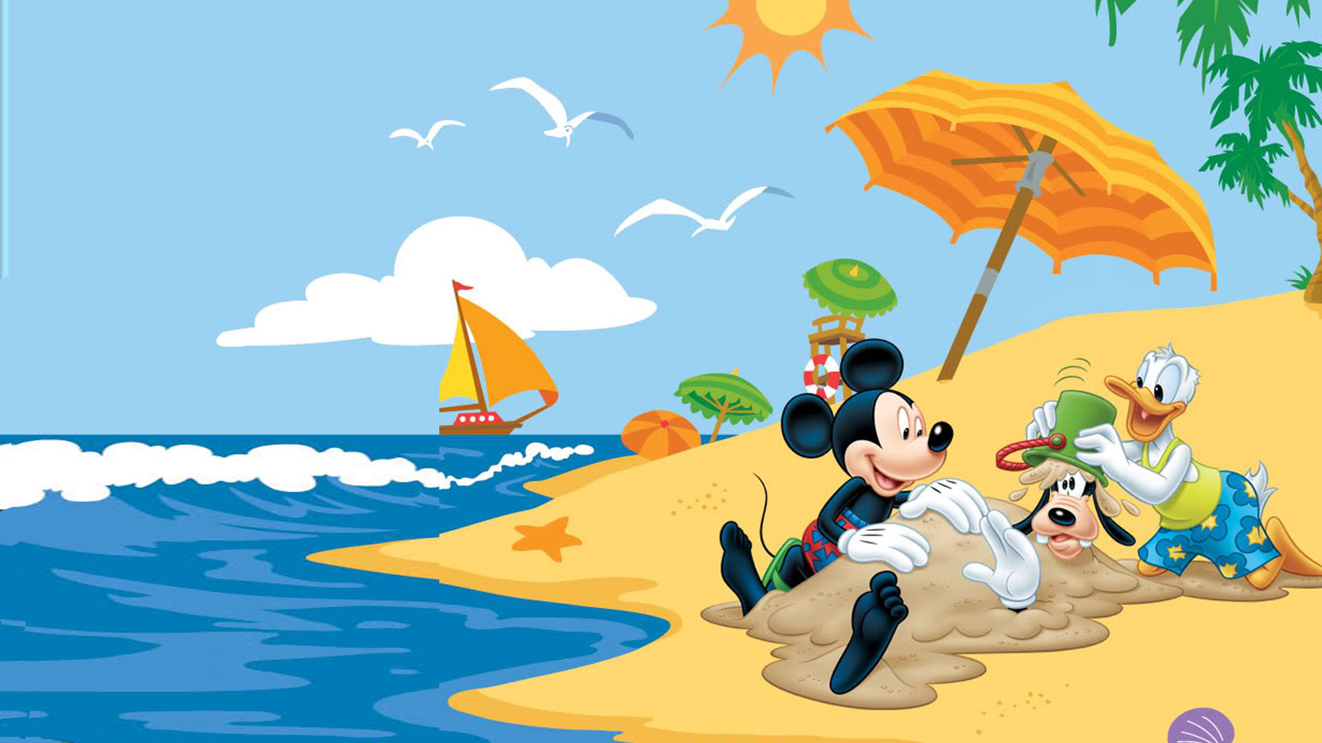 Cute Winnie The Pooh Iphone Wallpapers Summer Adventures With Mickey Mouse Donald Duck Goofy