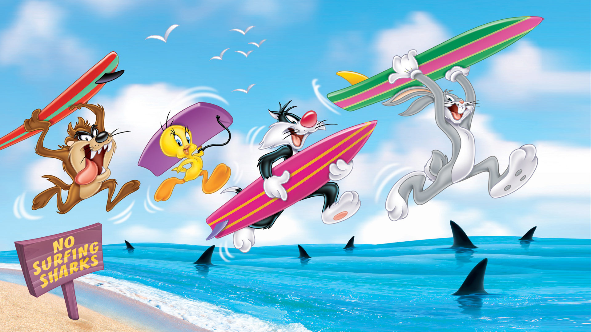Cars The Movie Christmas Wallpaper Bugs Bunny Sylvester The Cat Tweety Bird And Tasmanian