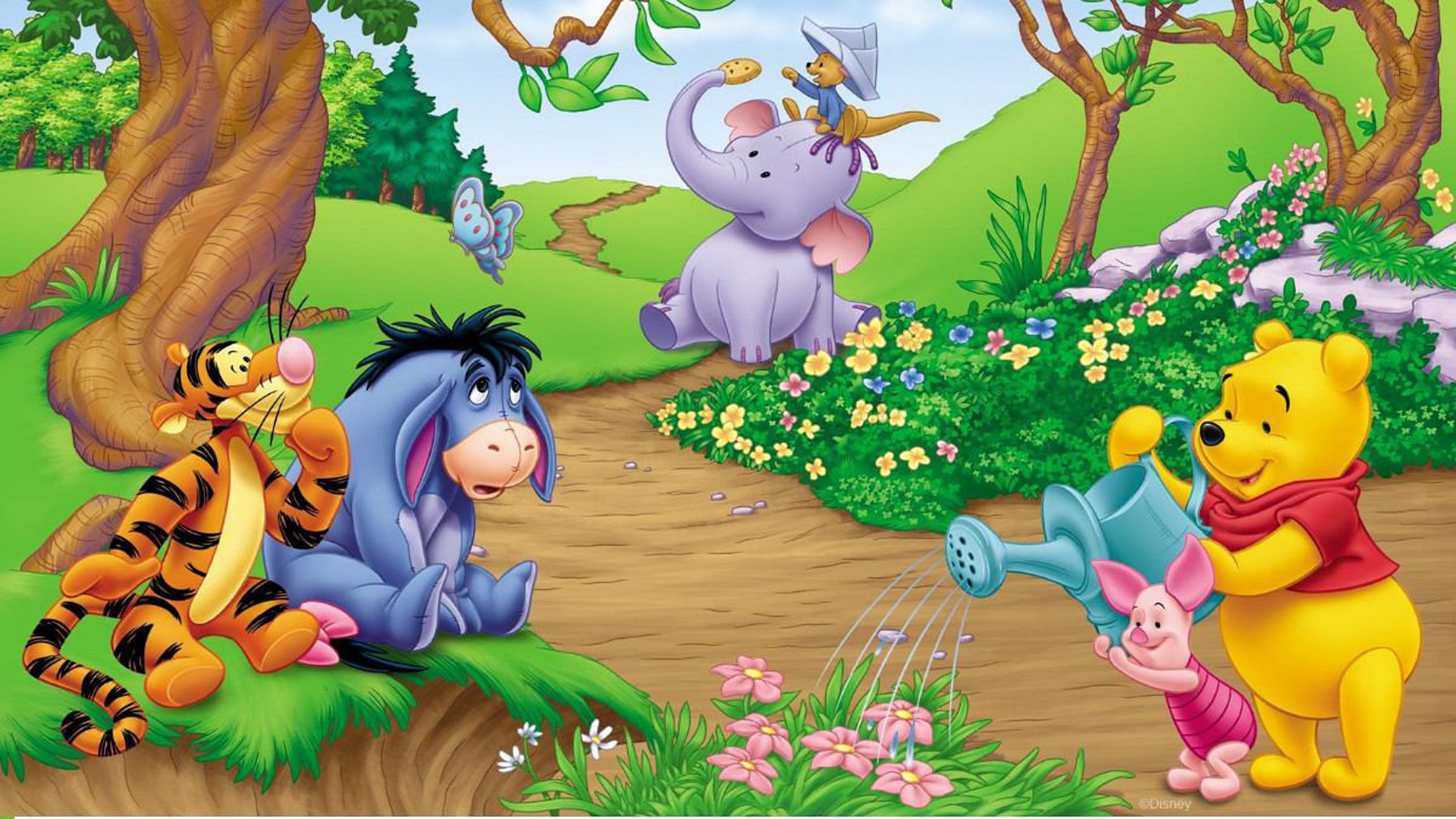 Wallpaper Hd For Mobile Free Download Animated Garden Of Winnie The Pooh Hd Wallpaper For Desktop