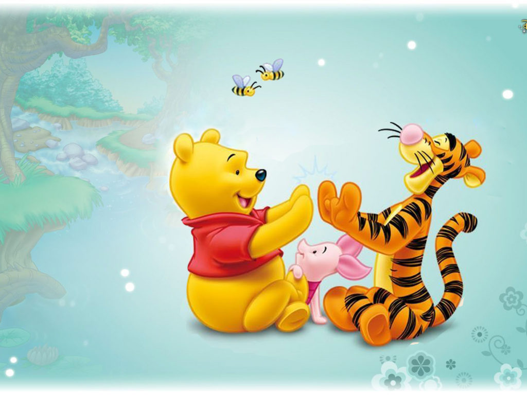 1366x768 Wallpapers Hd Cars Tigger Piglet And Winnie The Pooh Baby Cartoon Disney Hd