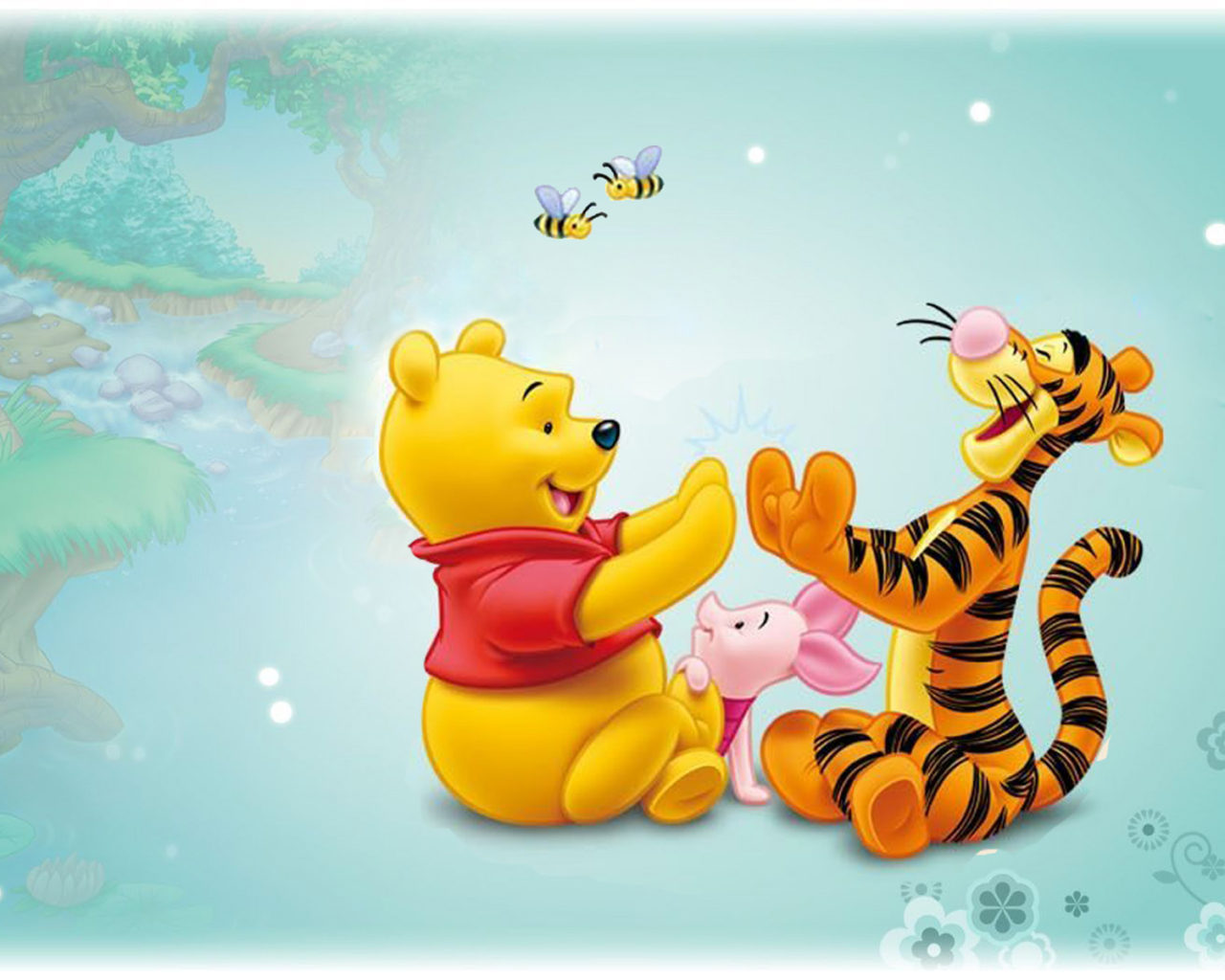 Wallpaper Iphone 5 Cartoon Tigger Piglet And Winnie The Pooh Baby Cartoon Disney Hd