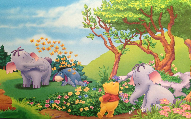 Cute Elephant Cartoon Wallpapers Winnie The Pooh Eeyore And Elephant Heffalump Summer