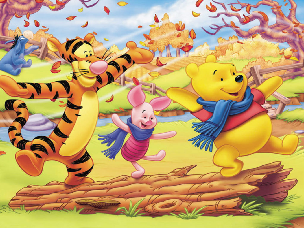 Cute Wallpapers Of Piglet And A Bunny Winnie The Pooh And Friends Autumn Pictures Cartoon Hd