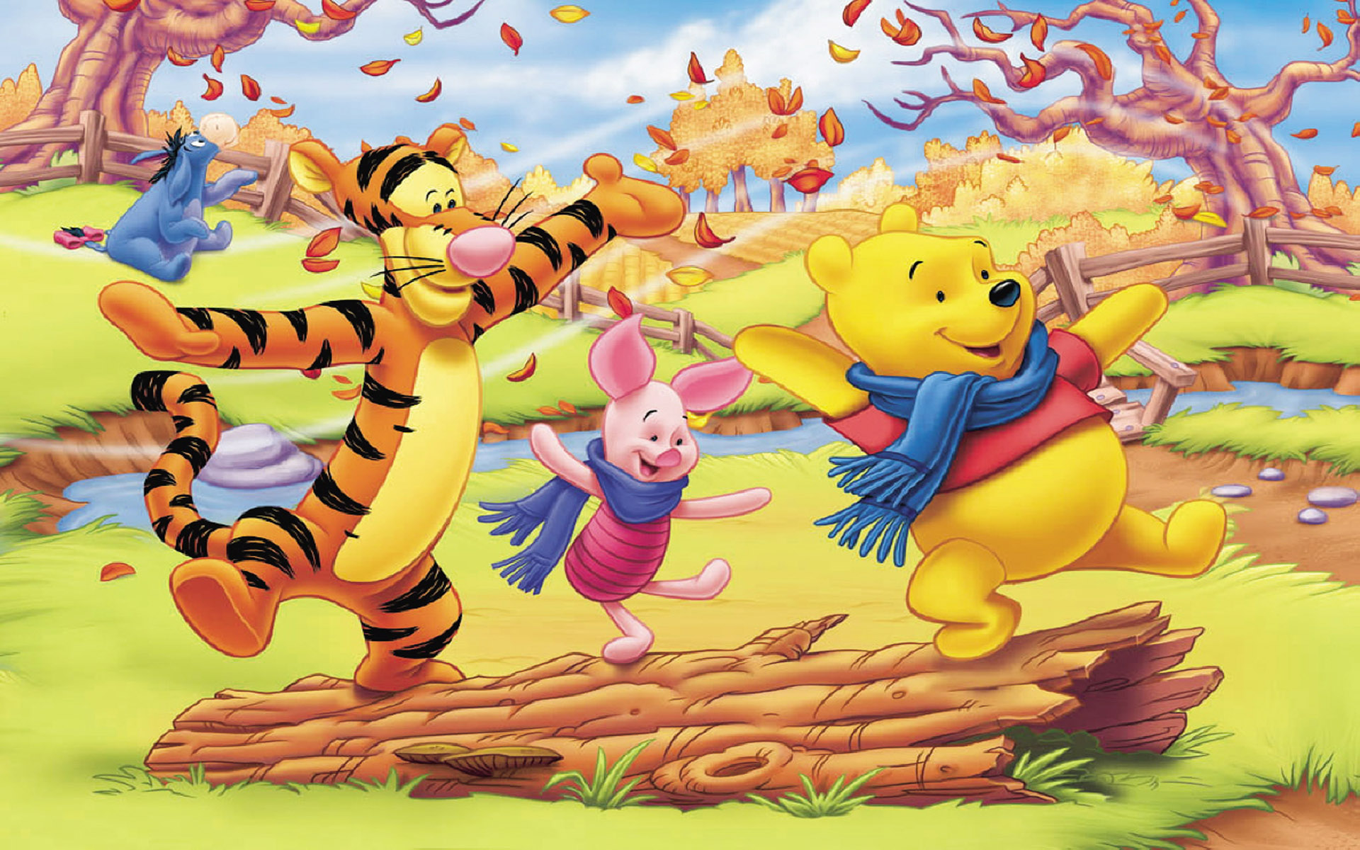 Winnie The Pooh Fall Desktop Wallpaper Winnie The Pooh And Friends Autumn Pictures Cartoon Hd
