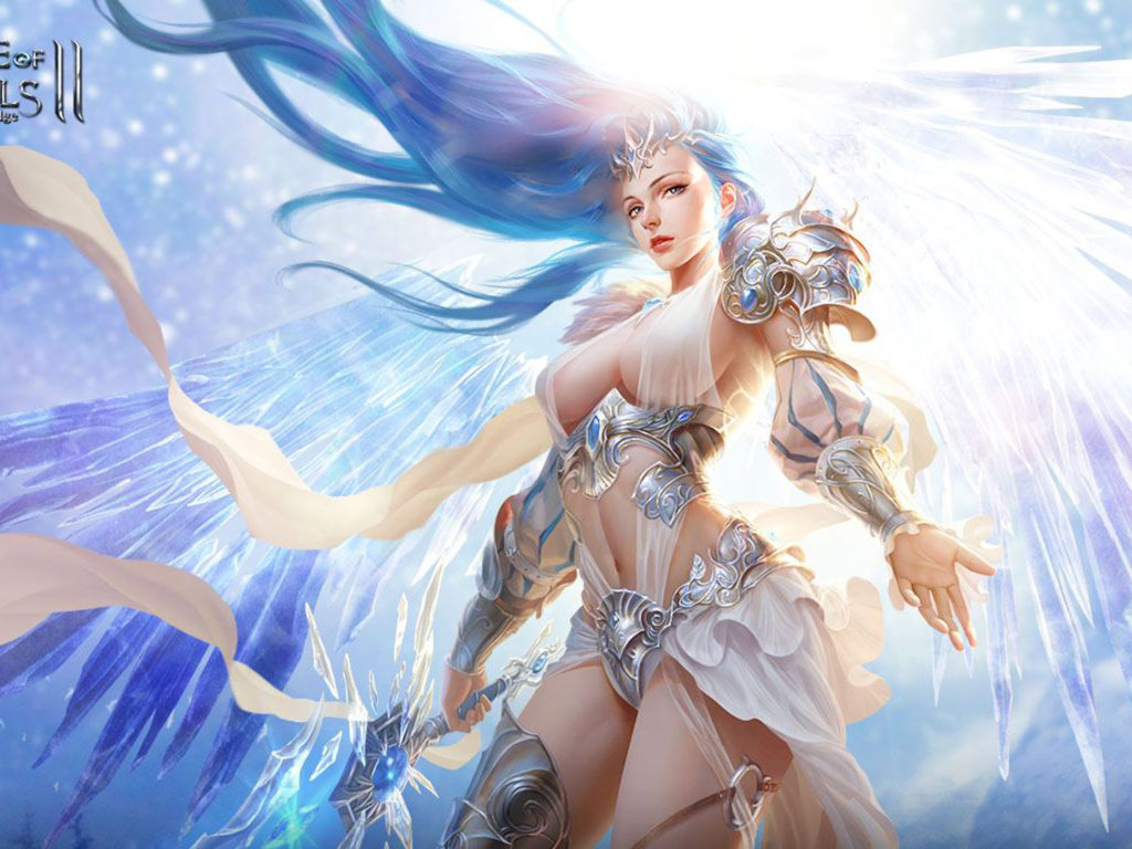 Chinese Girl Wallpapers Hd League Of Angels 2 Glacia Warrior Girl With A Blue Angel