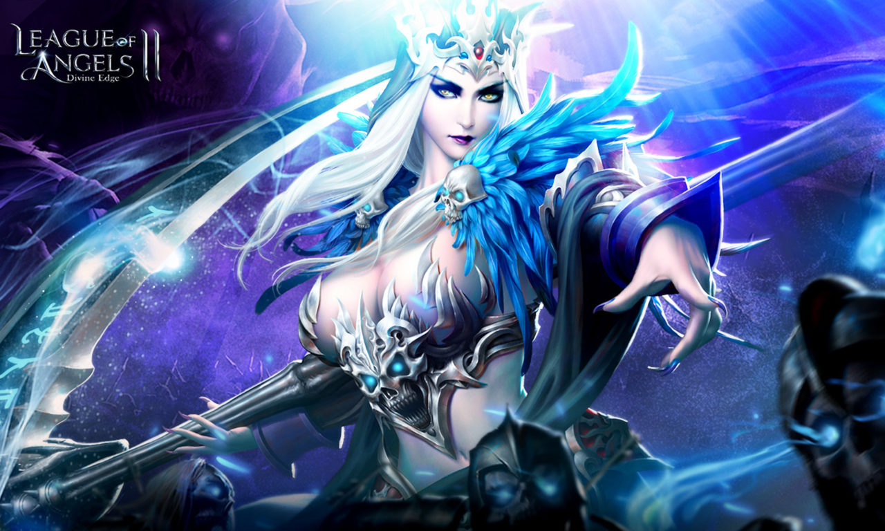 Beautiful Girl Hd Wallpaper For Pc League Of Angels 2 Hela Demon Girl Soul Eater Scythe