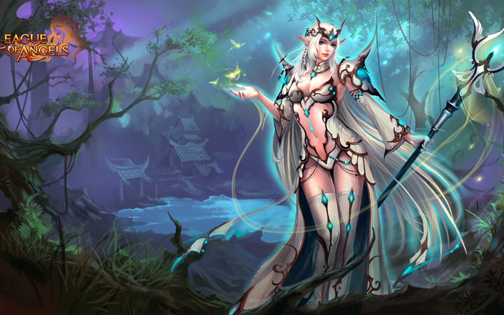 3d Angel Wallpapers Free League Of Angels 2 Caracters Heroes Thera Girl Video Game